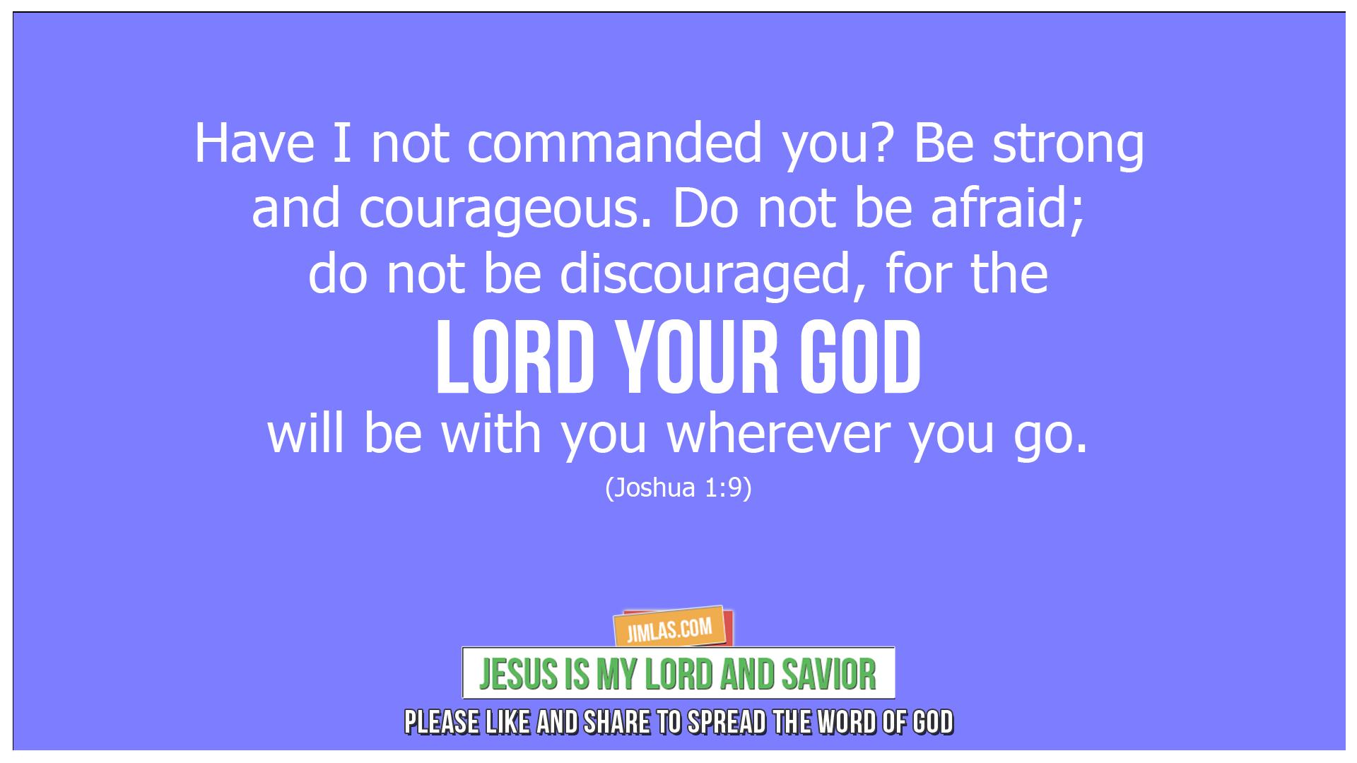 joshua 1 9, Joshua 1:9