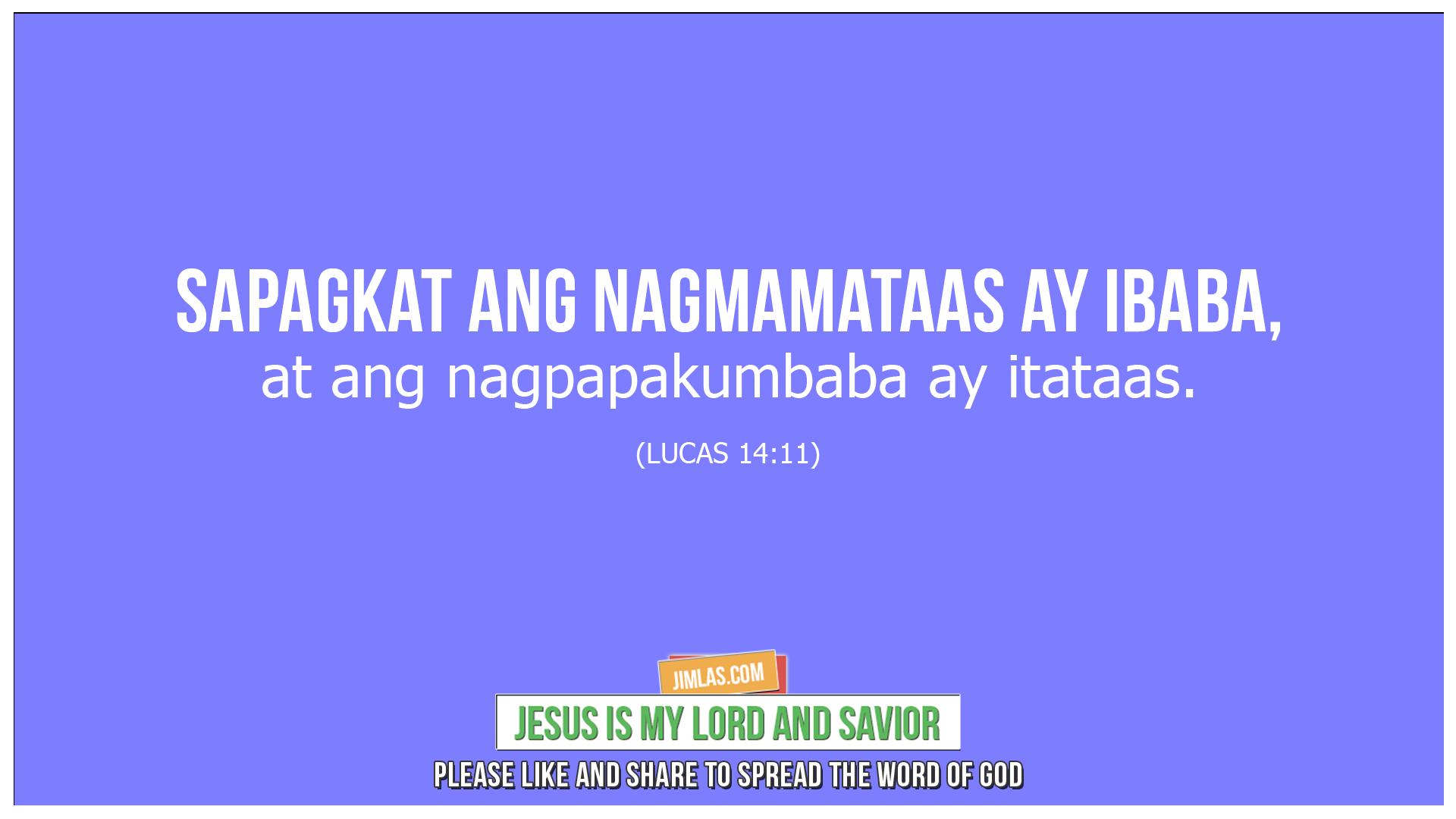 lucas 14:11, Lucas 14:11