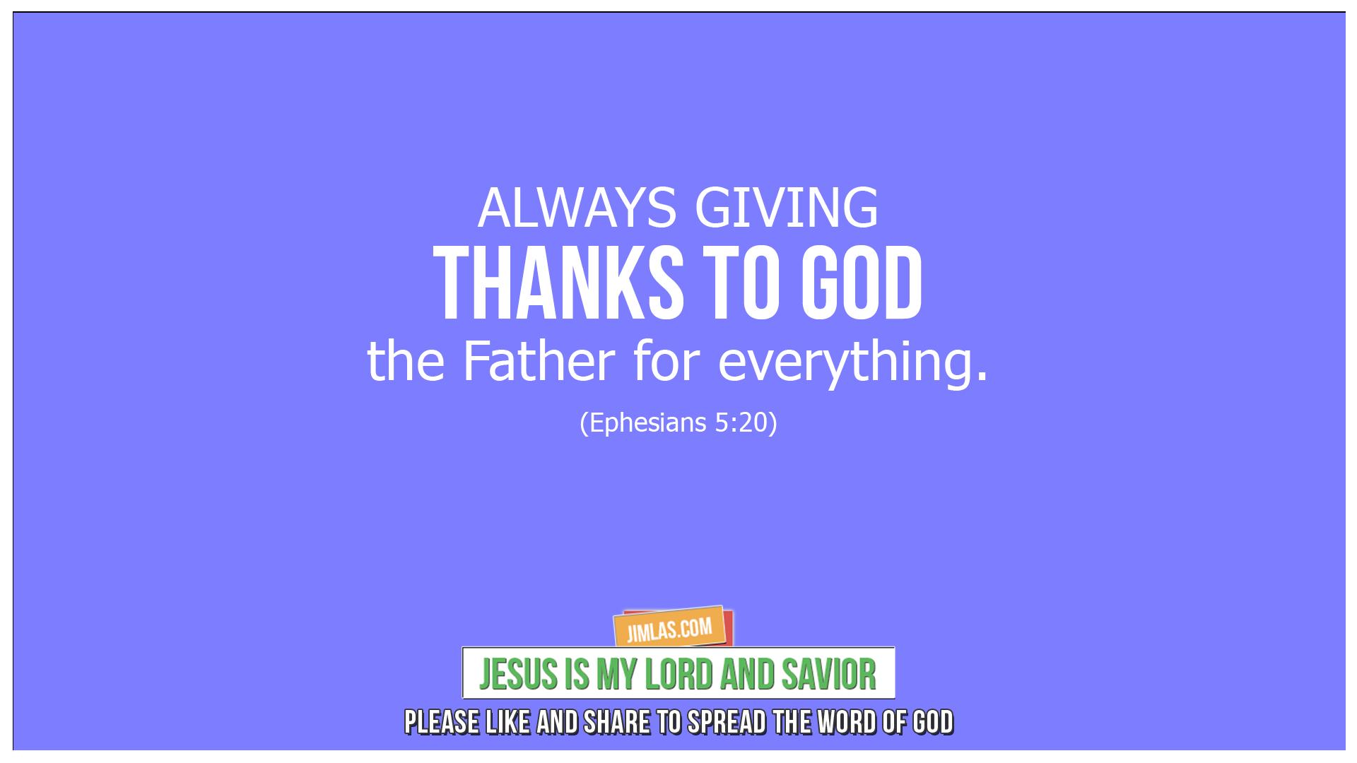 ephesians 5 20, Ephesians 5:20