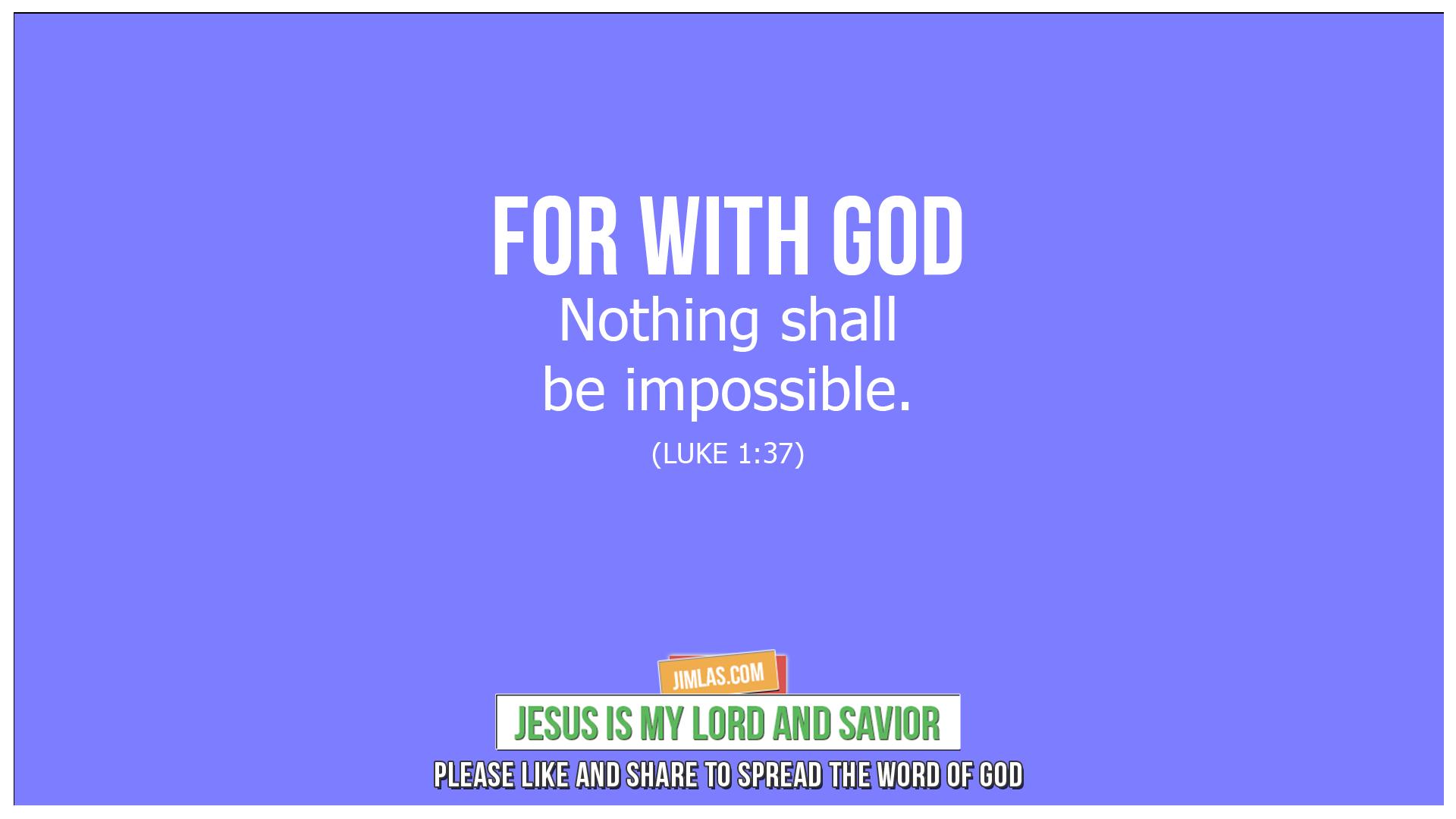 luke 1 37, Luke 1:37