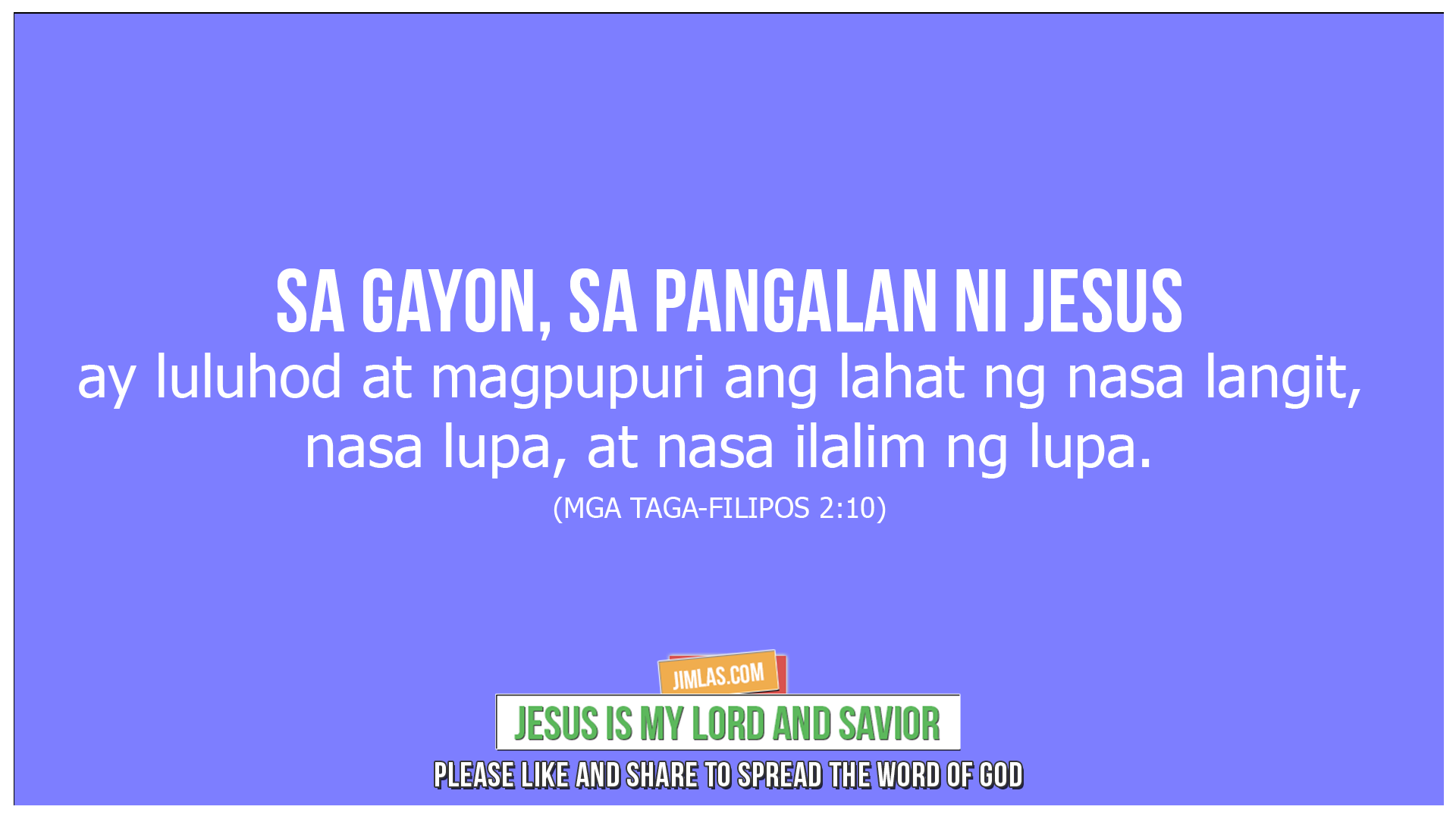 mga taga filipos 2 10, Mga Taga Filipos 2:10
