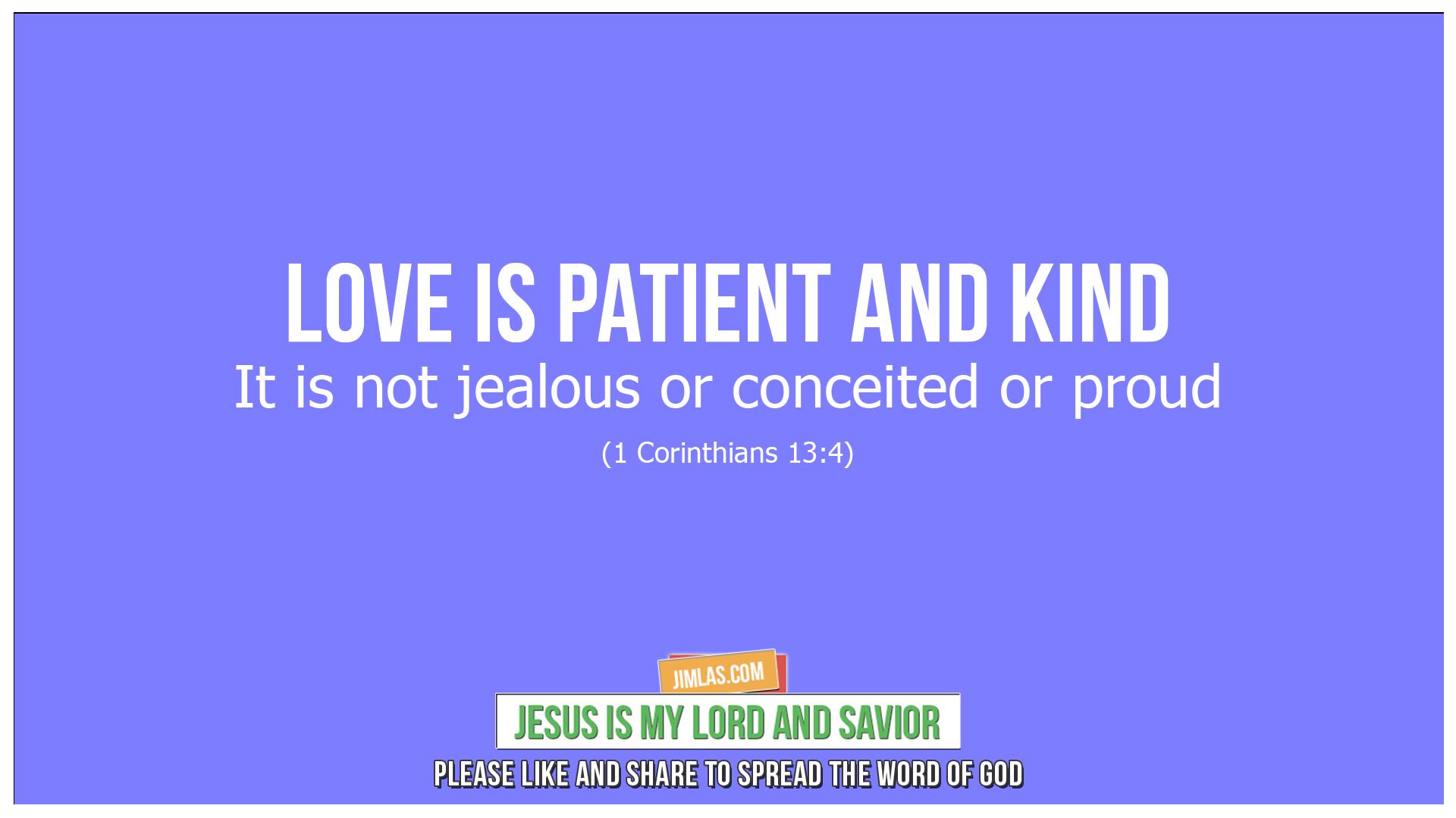 1 corinthians 13 4, 1 Corinthians 13:4