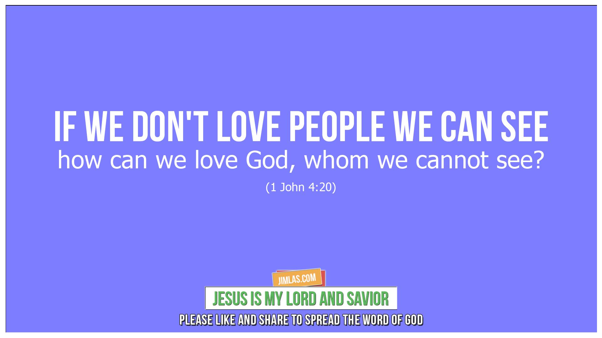 1 john 4 20, 1 John 4:20