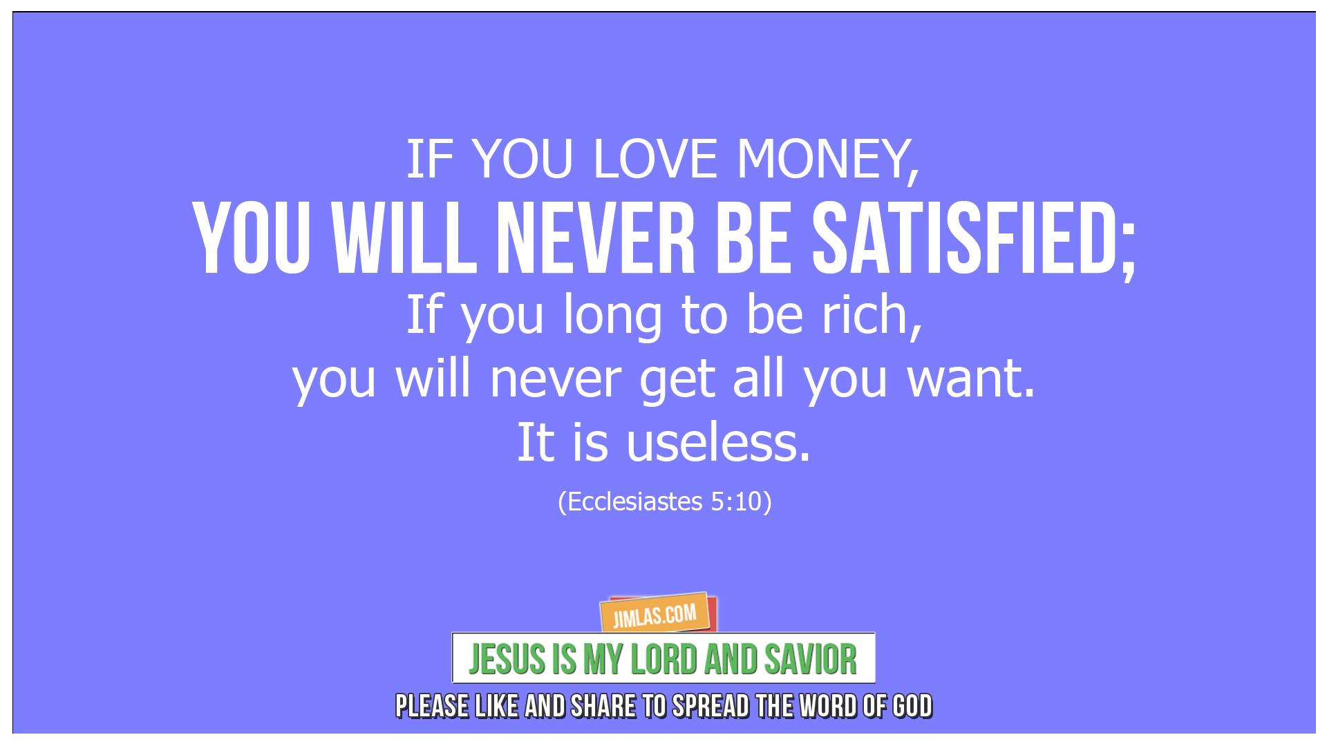 ecclesiastes 5 10, Ecclesiastes 5:10