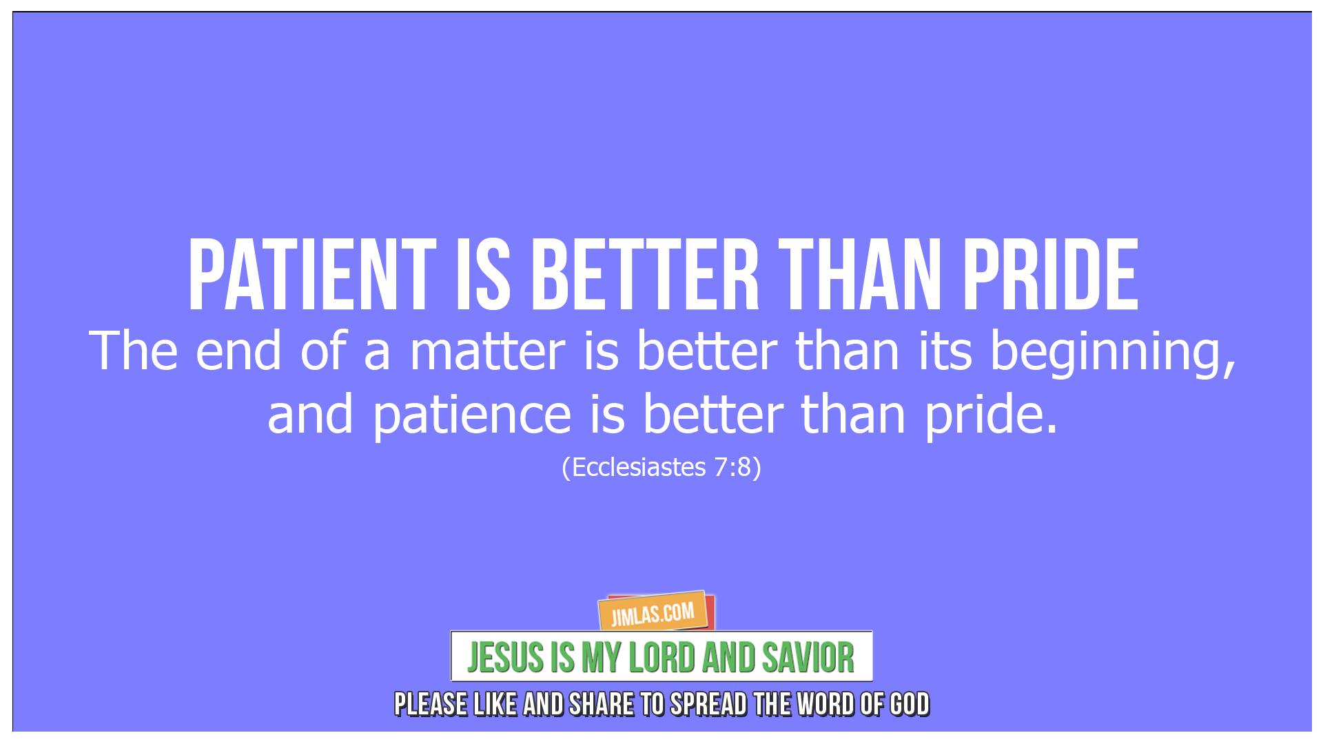 ecclesiastes 7 8, Ecclesiastes 7:8