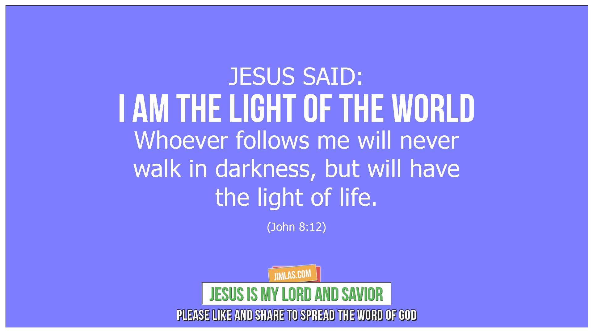 john 8 12, John 8:12