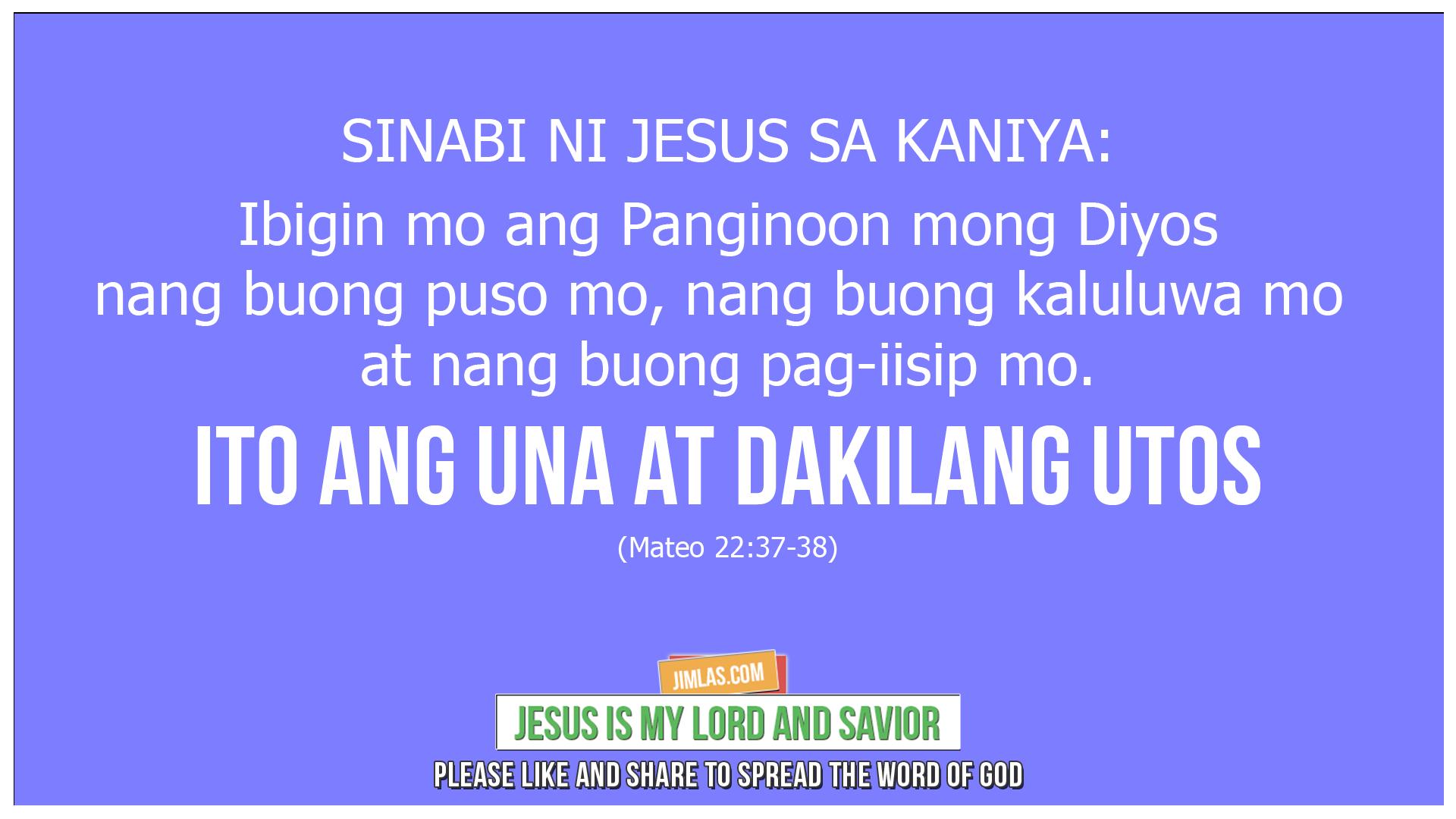 mateo 22 37 38, Mateo 22:37-38