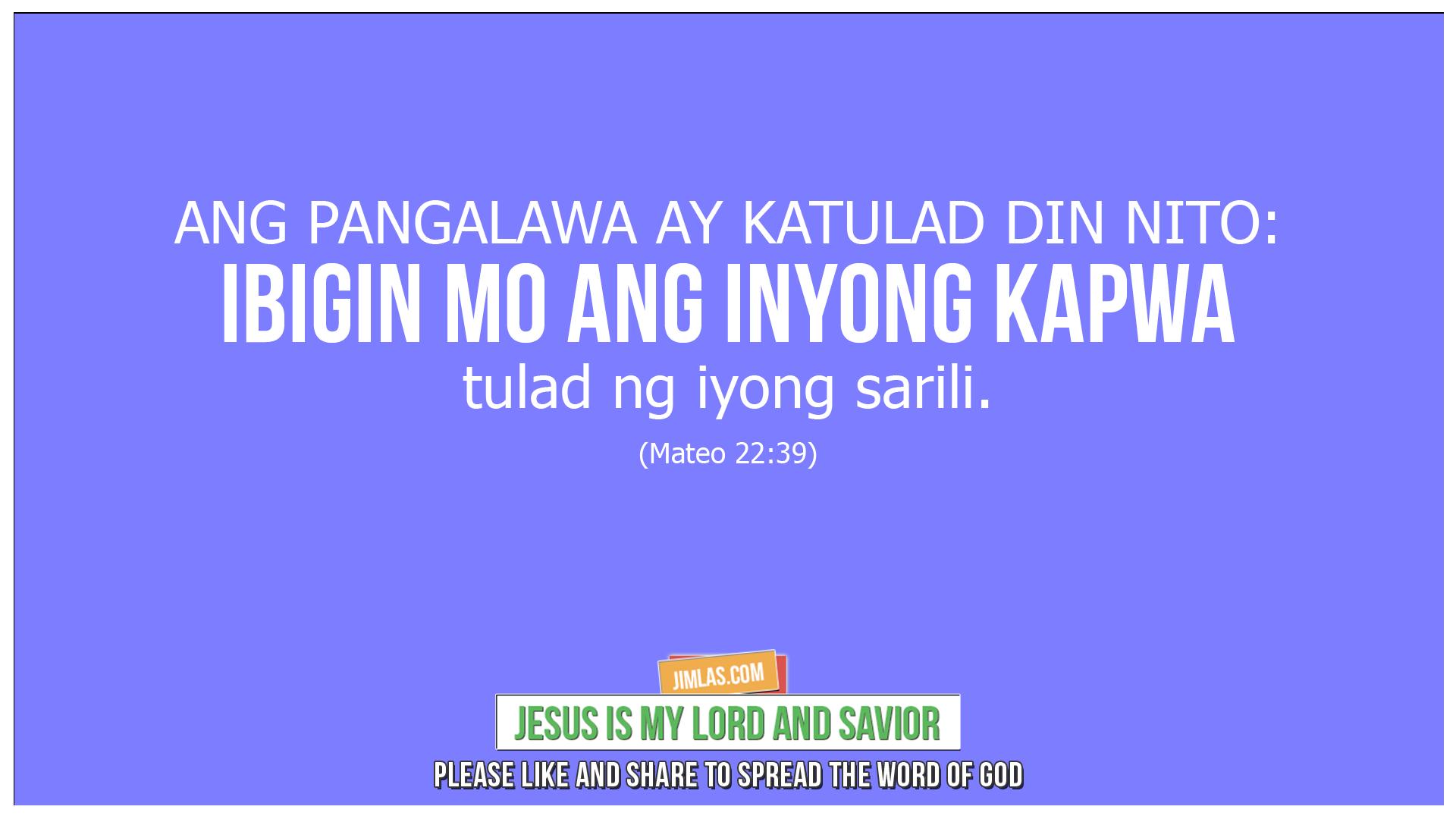 mateo 22 39, Mateo 22:39