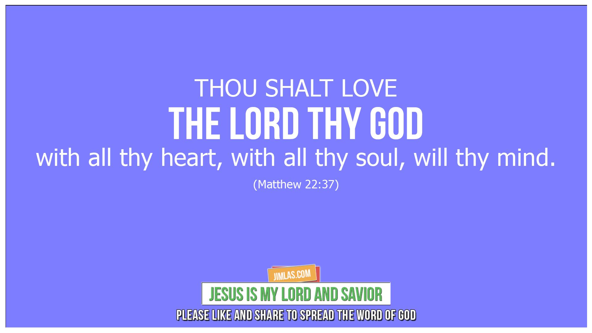 matthew 22 37, Matthew 22:37