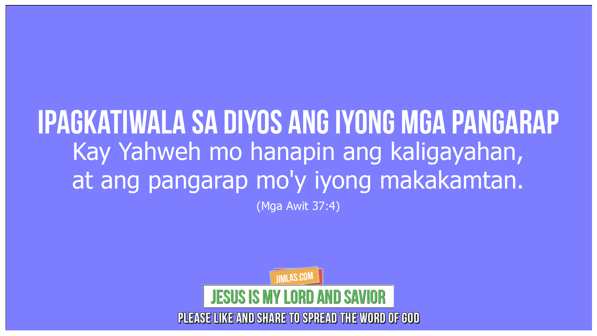 mga awit 37 4, Mga Awit 37:4