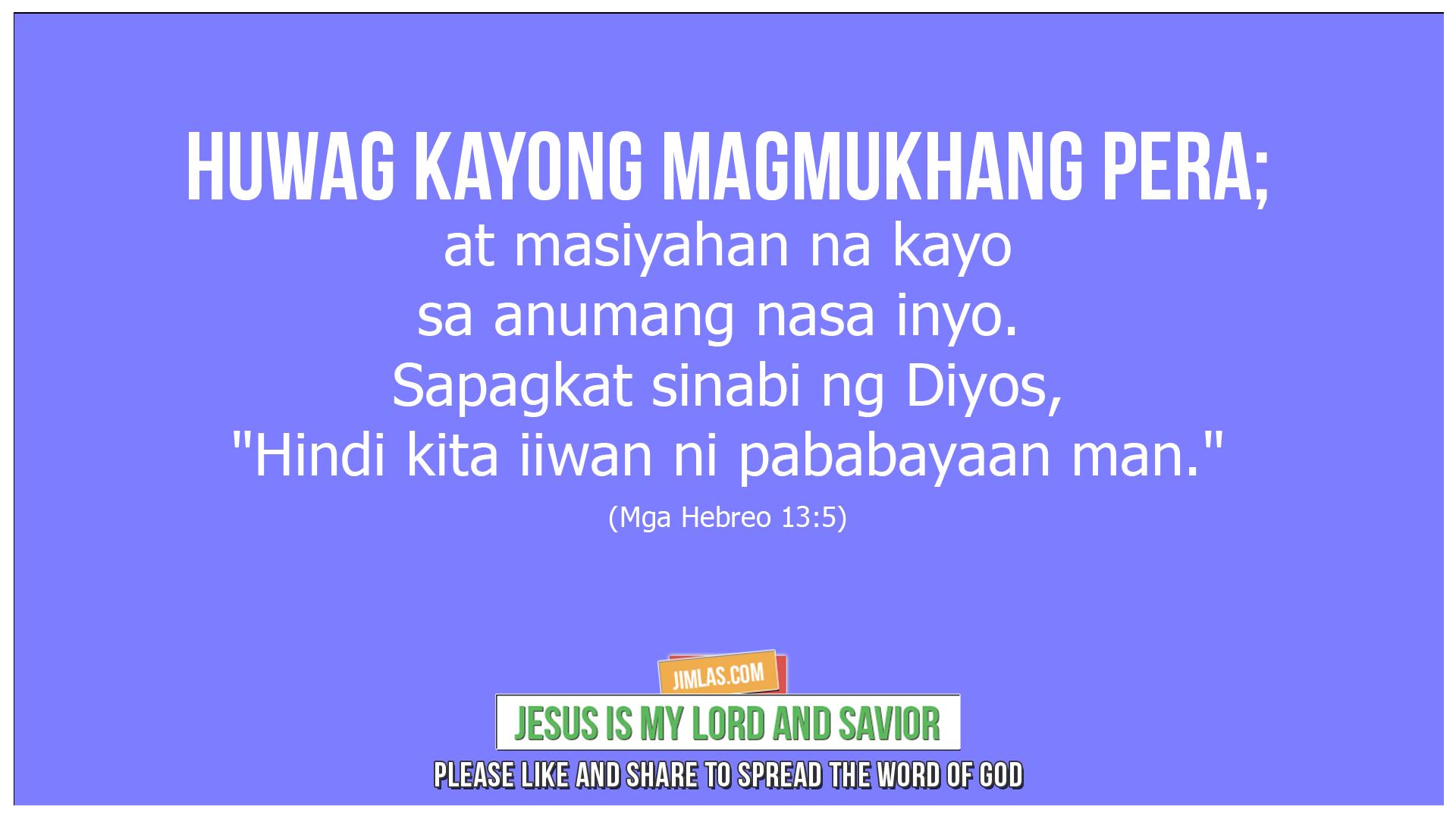 mga hebreo 13 5, Mga Hebreo 13:5