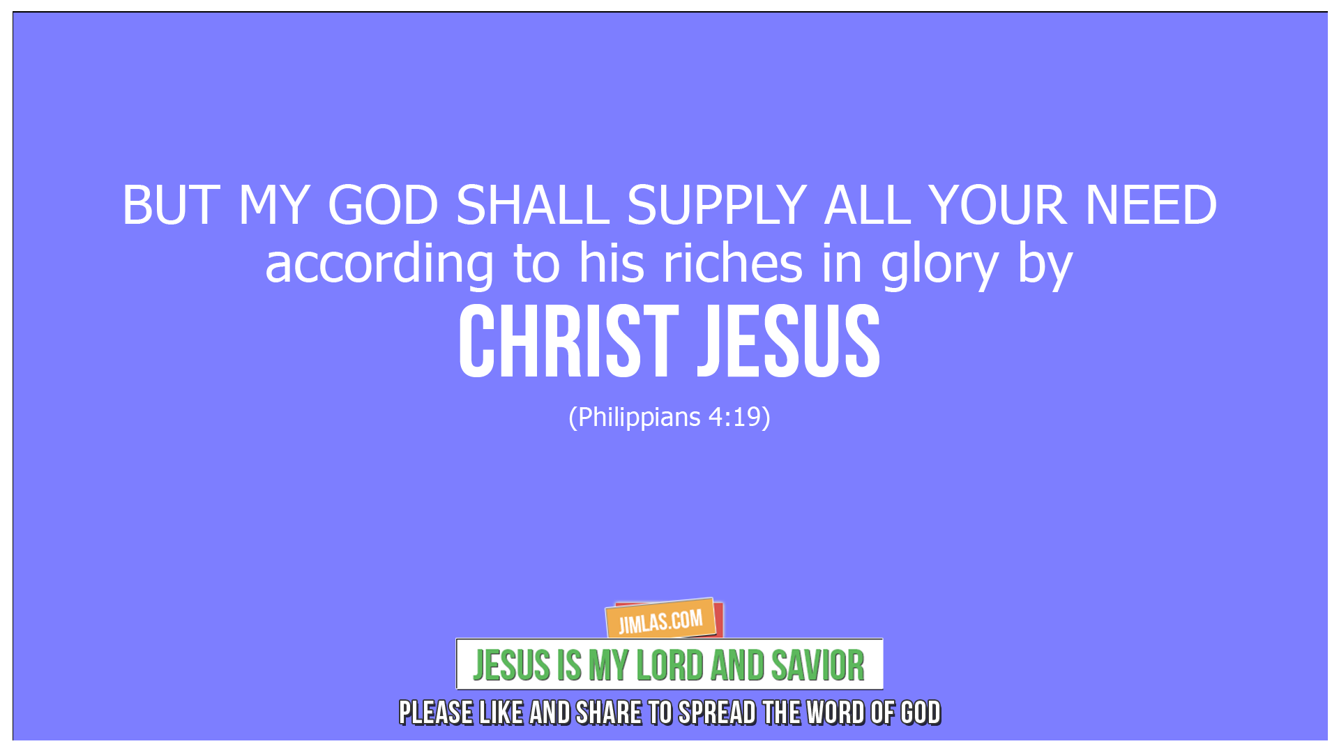 philippians 4 19, Philippians 4:19