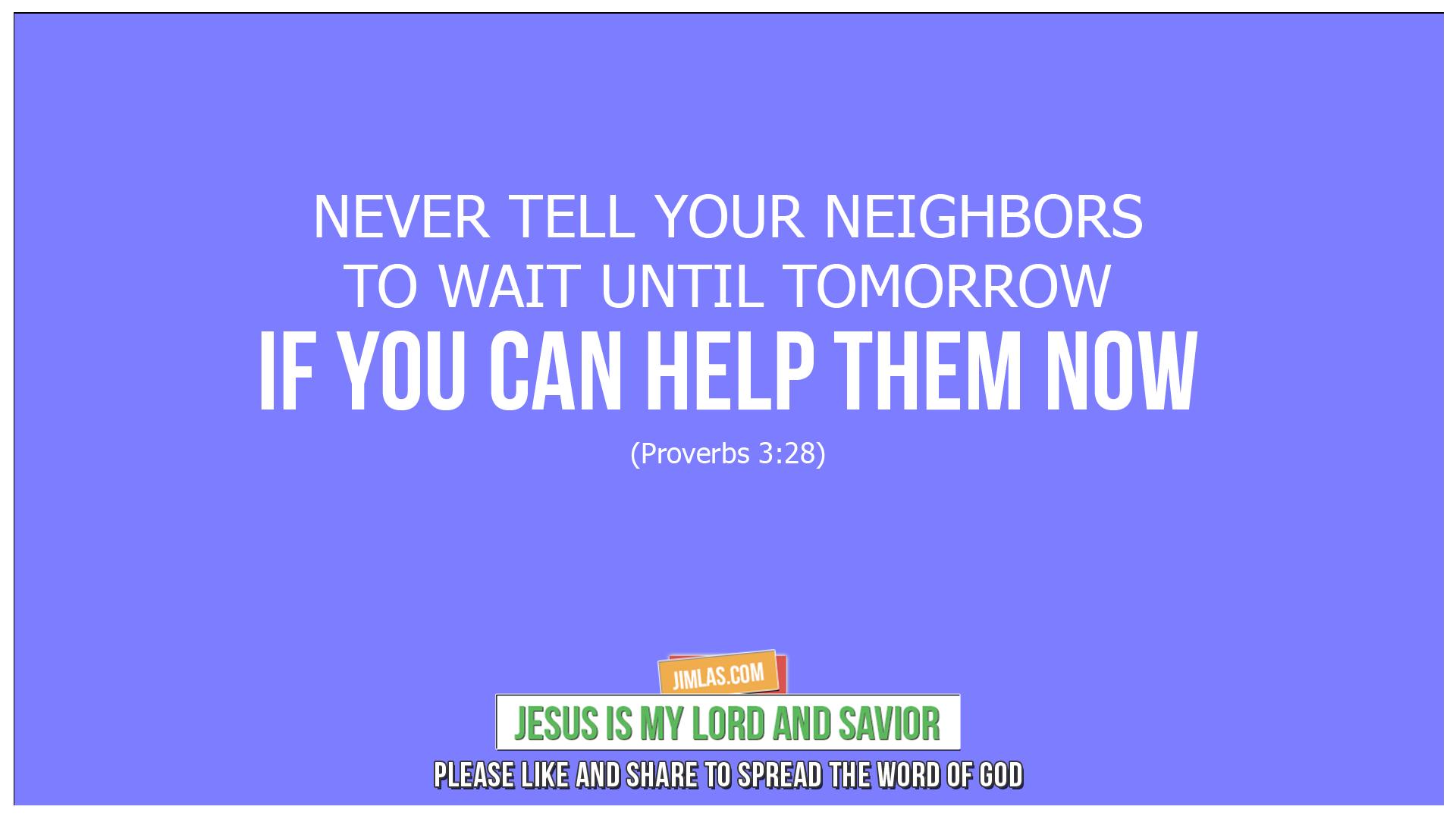 proverbs 3 28, Proverbs 3:28