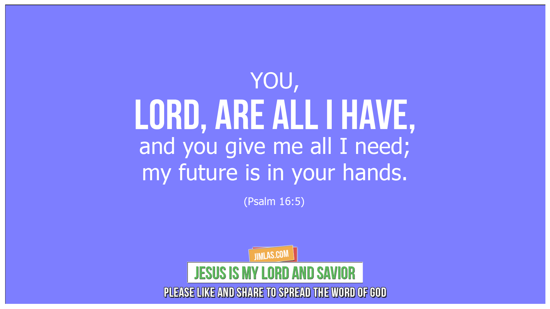 psalm 16 5, Psalm 16:5