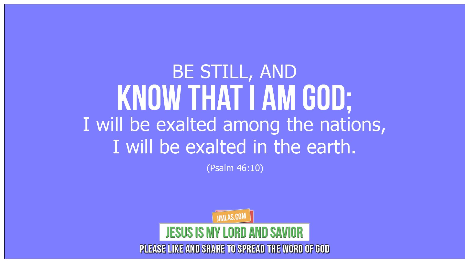 psalm 46 10, Psalm 46:10