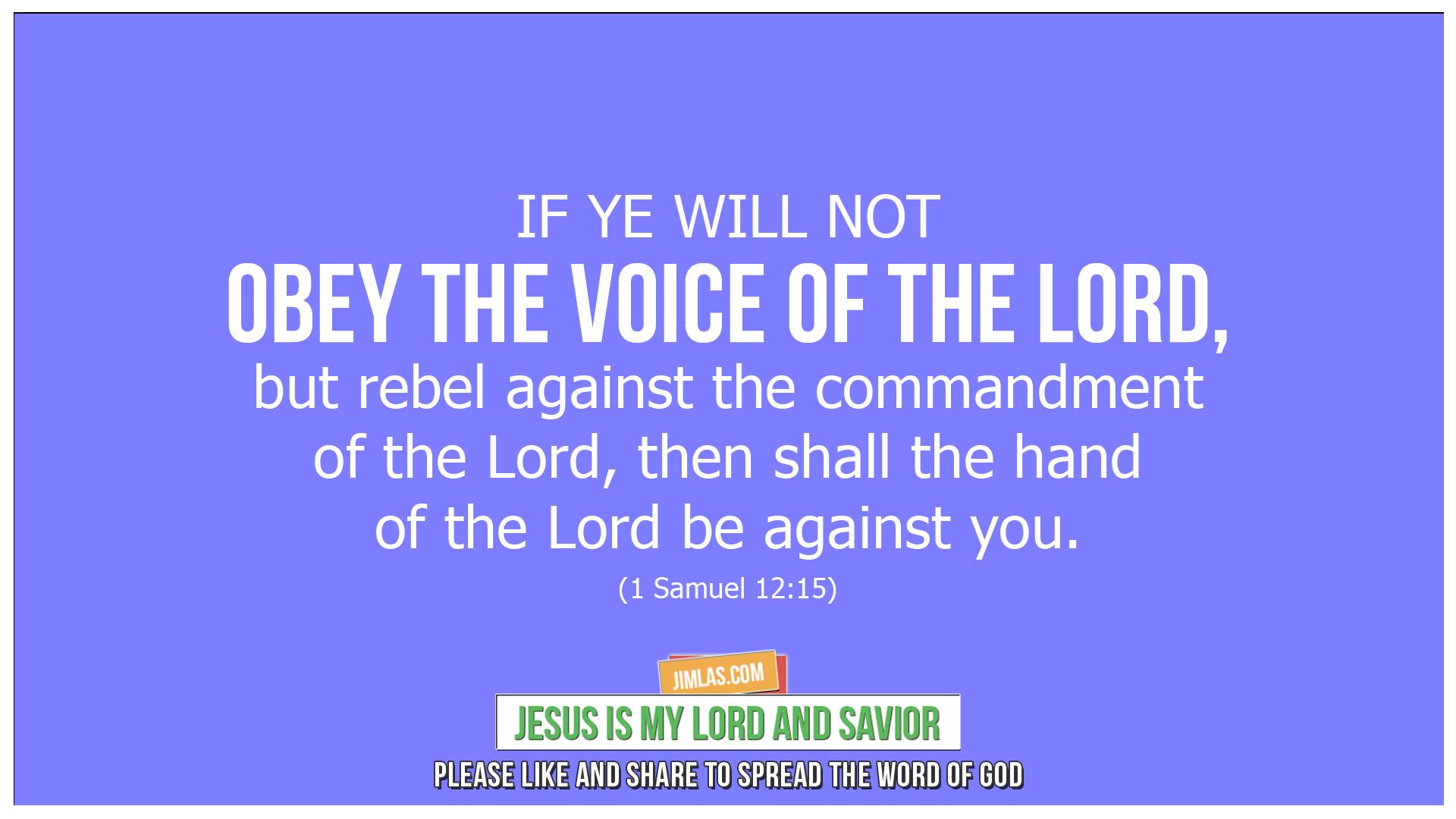 1 samuel 12 15, 1 Samuel 12:15