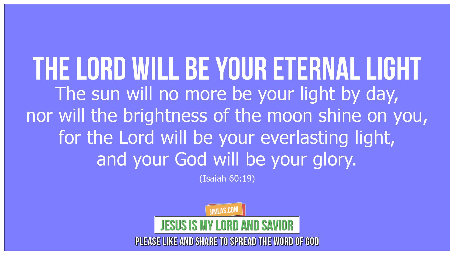 isaiah 60 19, Isaiah 60:19