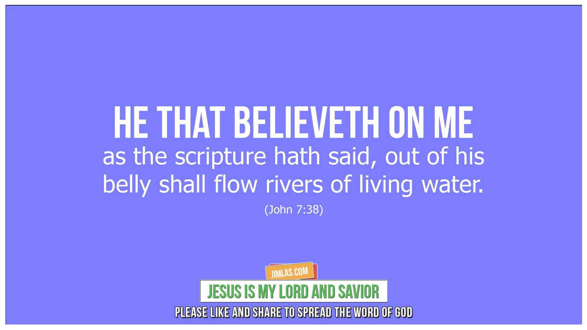 john 7 38, John 7:38