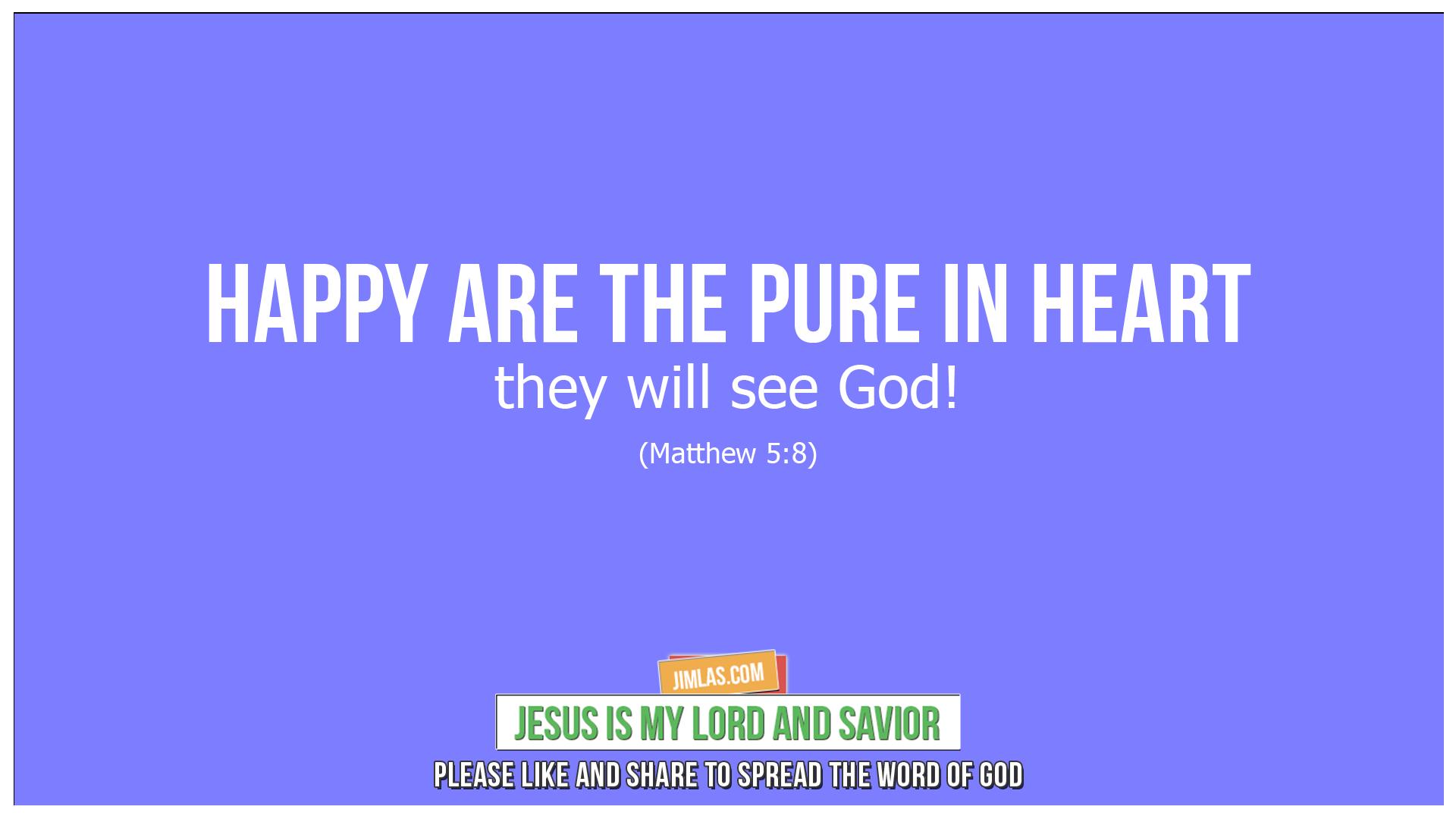 matthew 5 8, Matthew 5:8