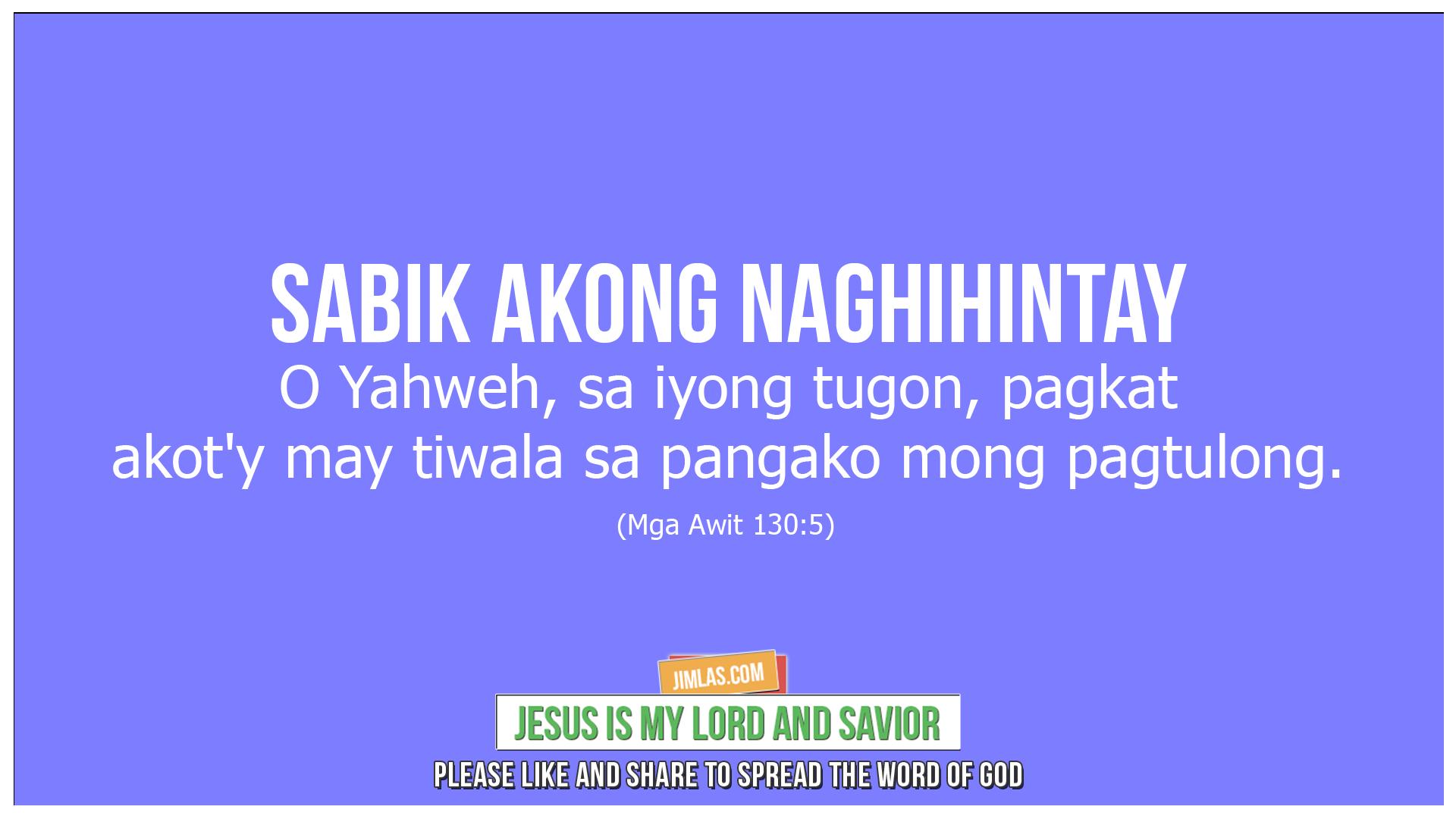 mga awit 130 5, Mga Awit 130:5