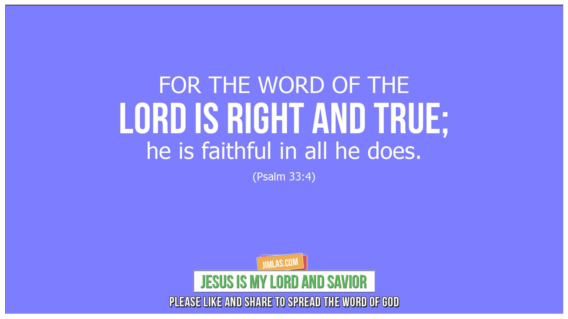 psalm 33 4, Psalm 33:4