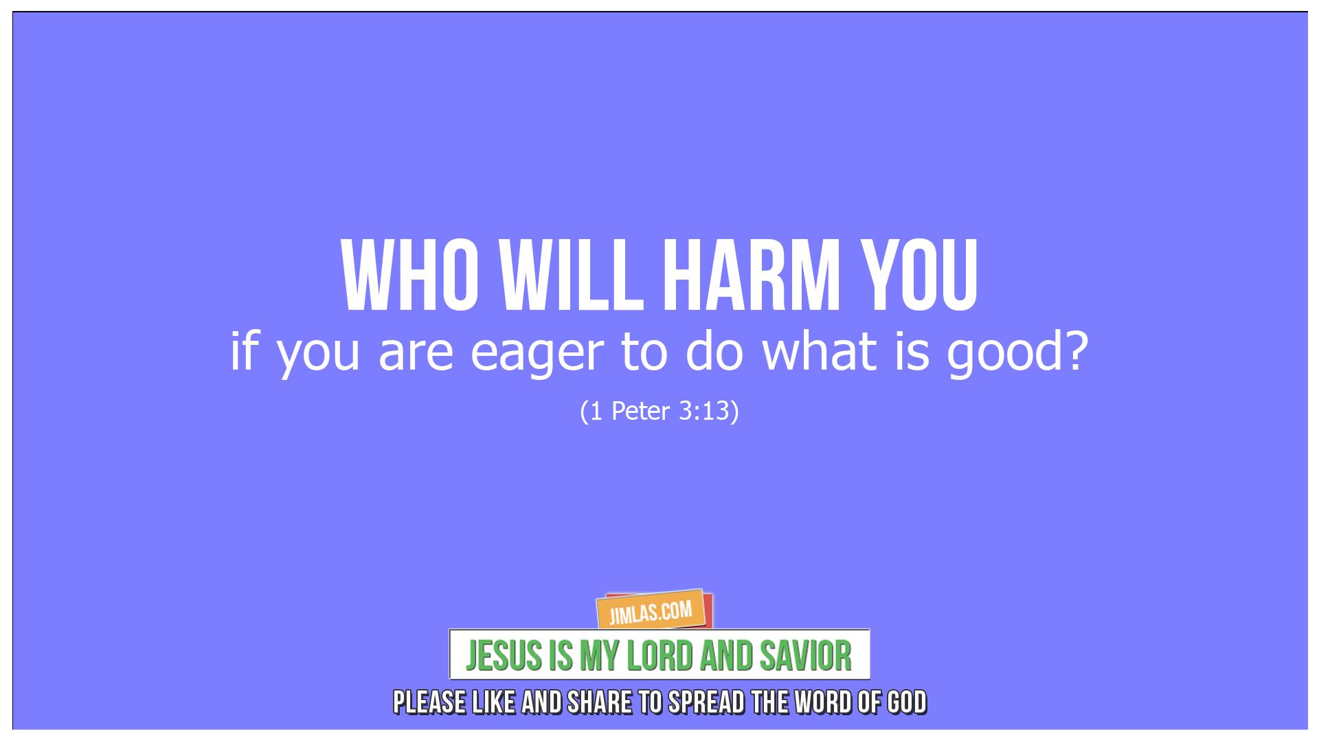 1 peter 3 13, 1 Peter 3:13