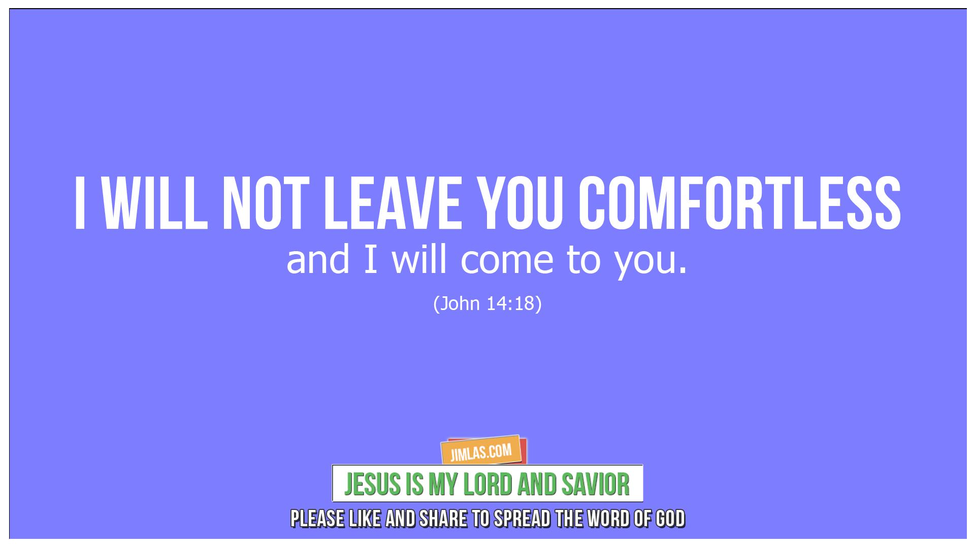 john 14 18, John 14:18