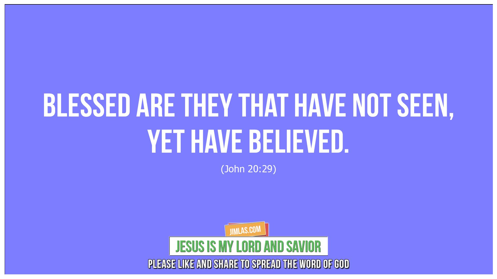 john 20 29, John 20:29