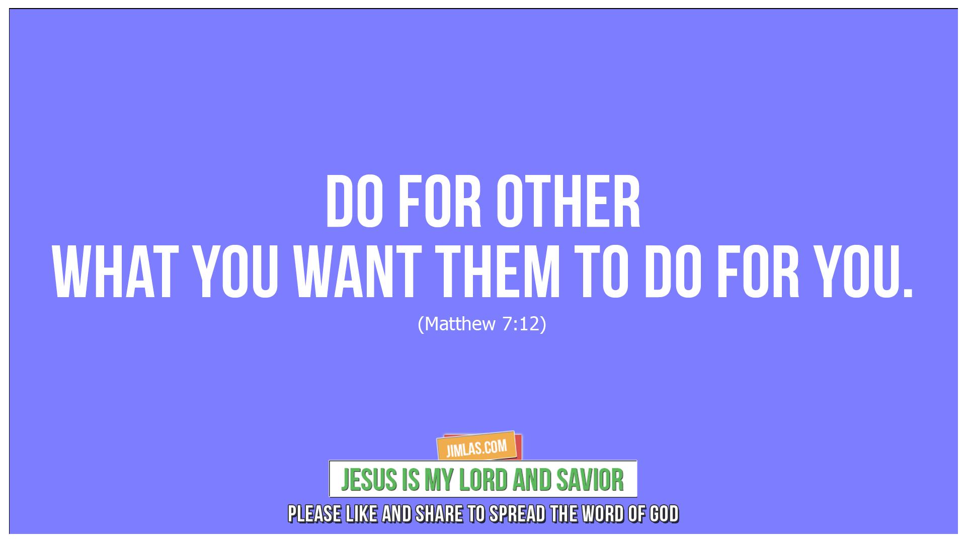 matthew 7 12, Matthew 7:12