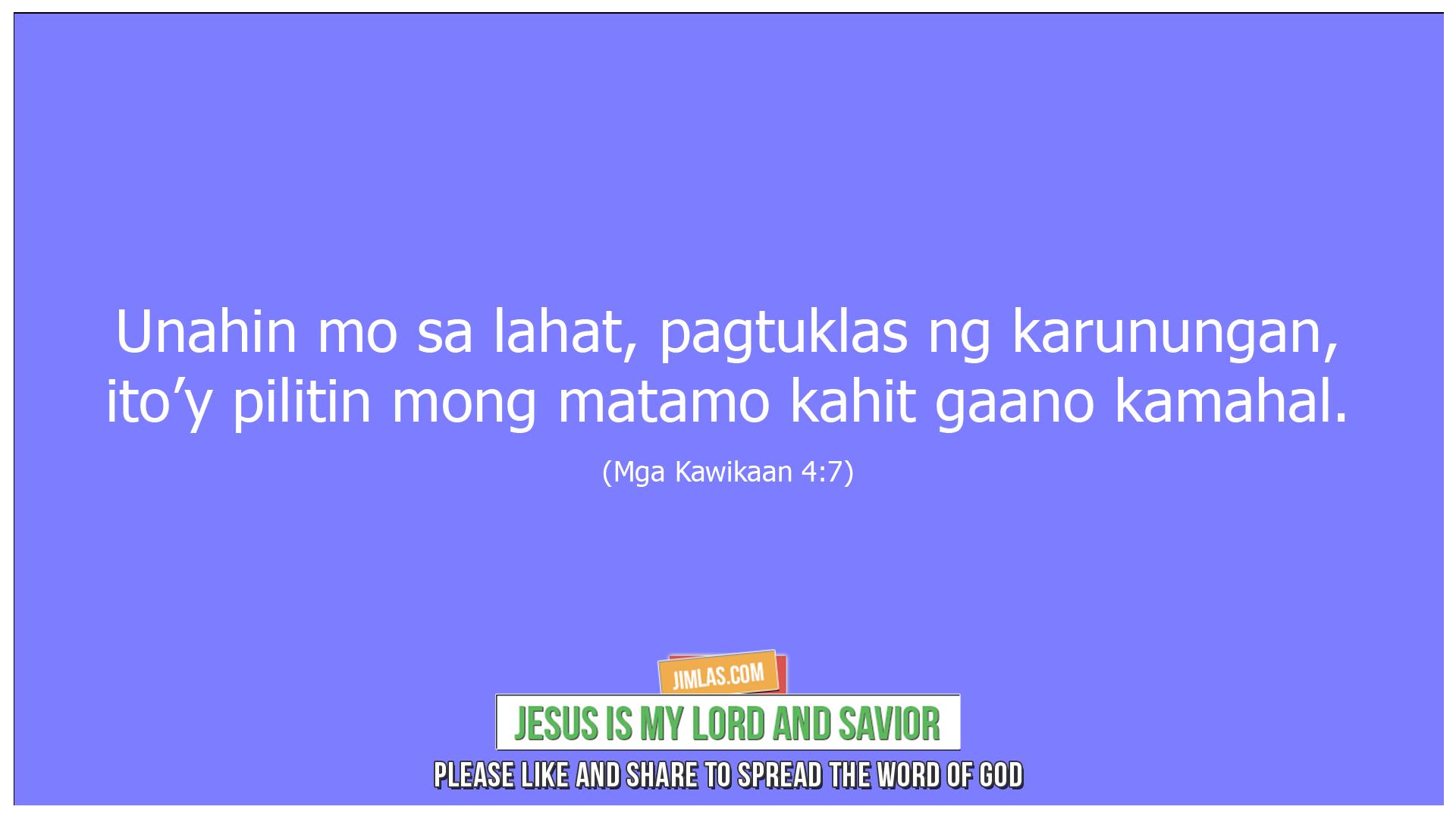 mga kawikaan 4 7, Mga Kawikaan 4:7
