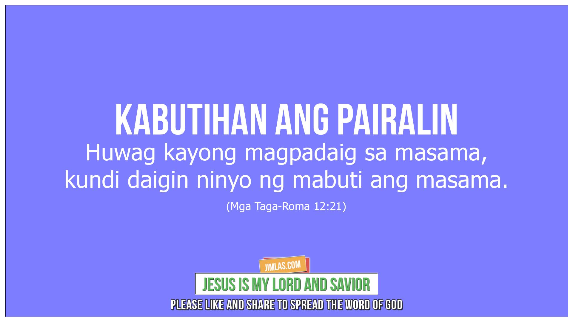 mga taga-roma 12 21, Mga Taga-Roma 12:21