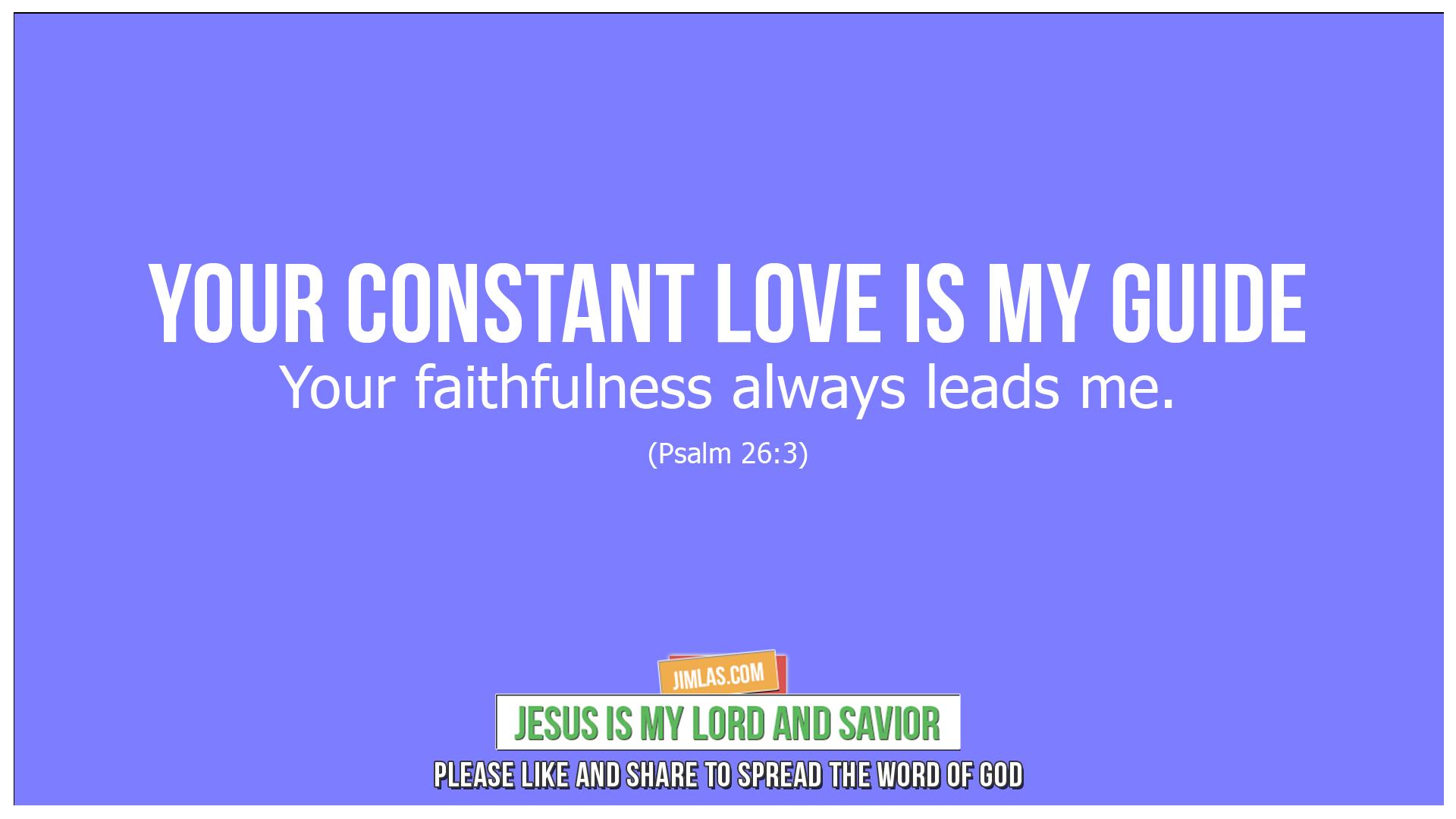 psalm 26 3, Psalm 26:3