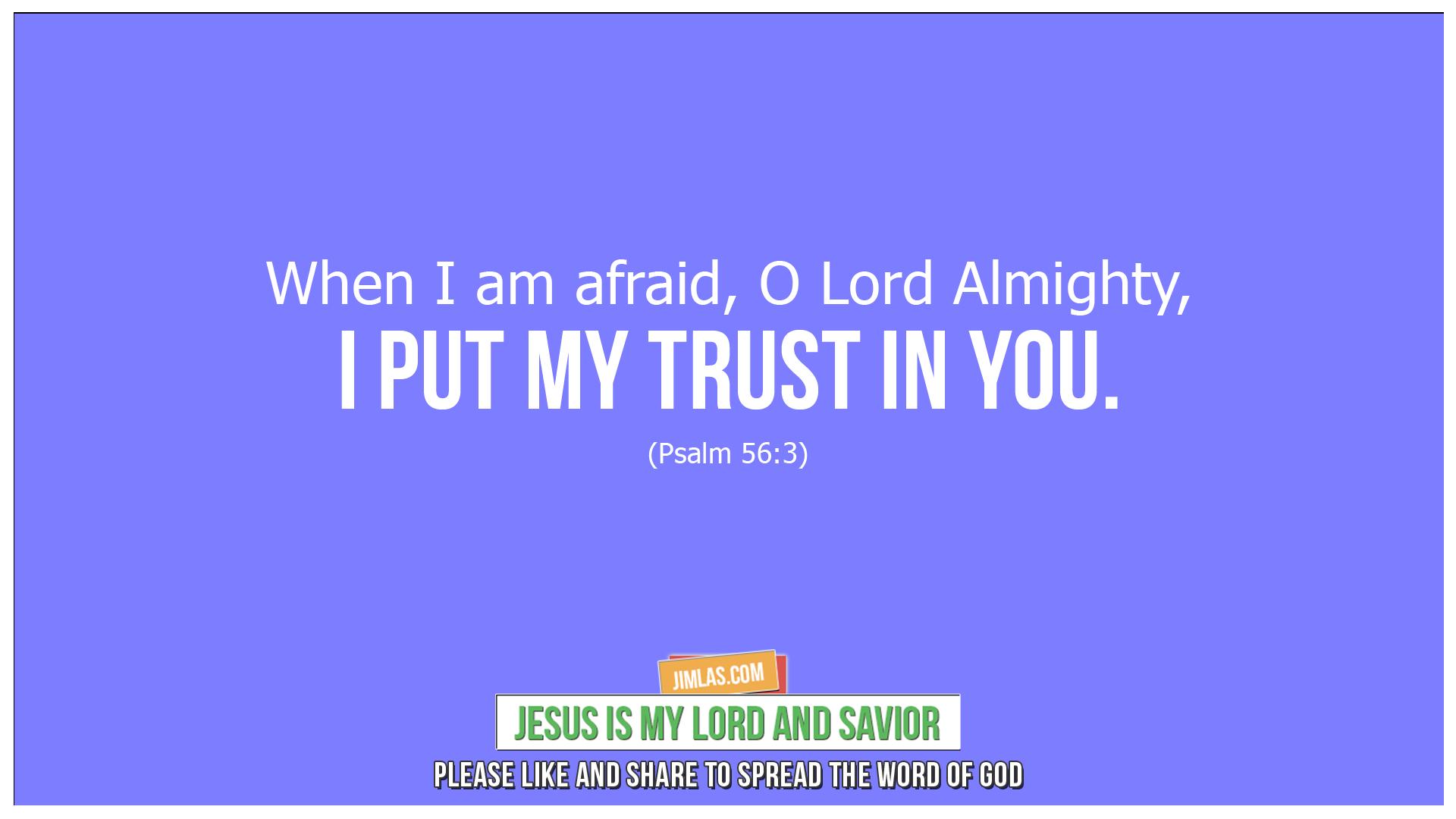 psalm 56 3, Psalm 56:3
