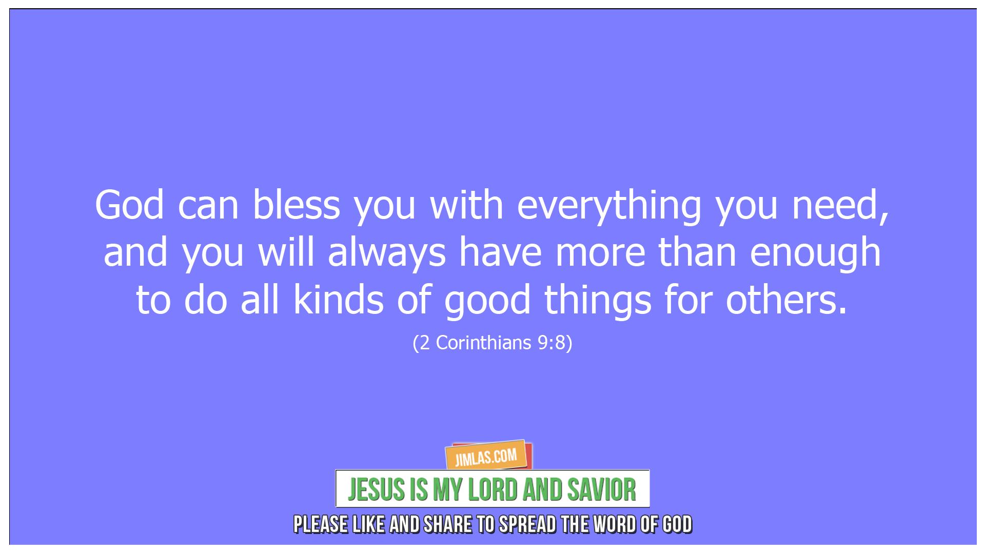 2 Corinthians 9 8, 2 Corinthians 9:8