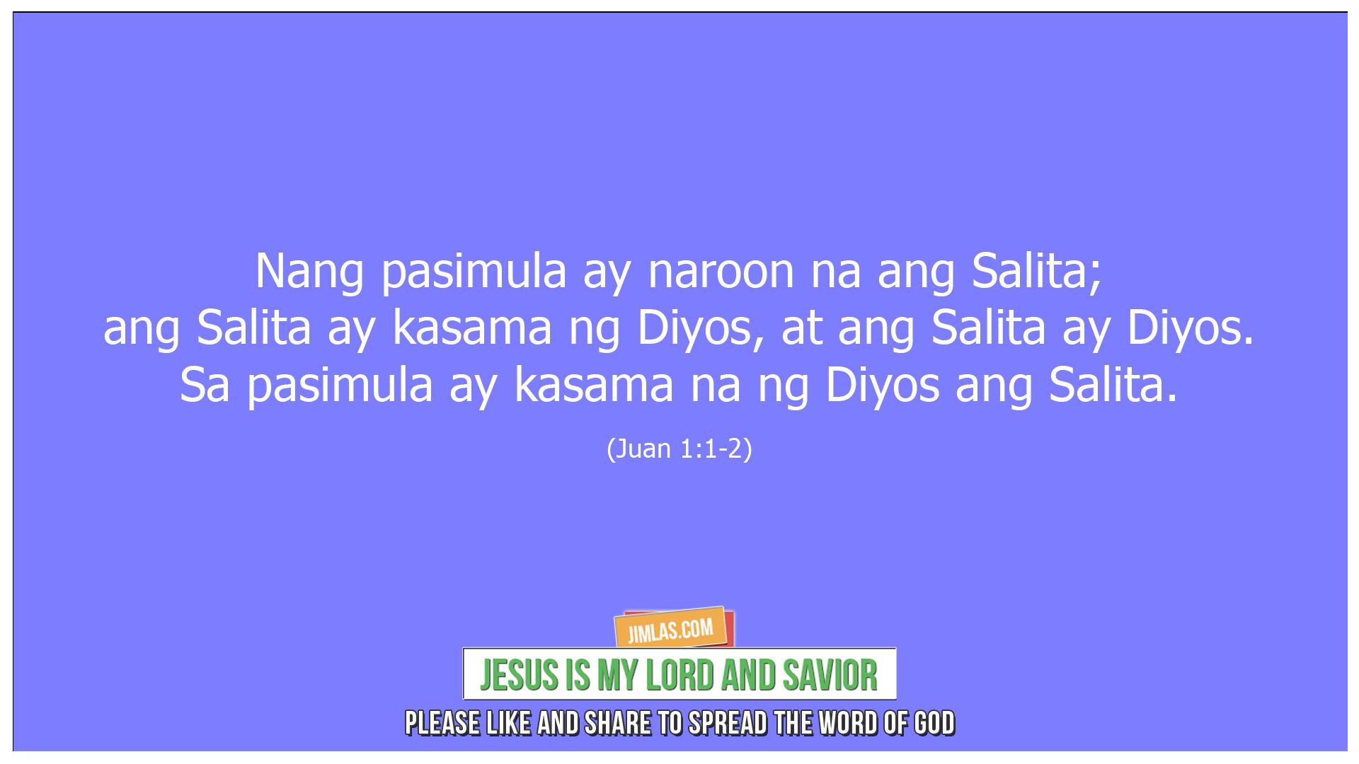 Juan 1 1-2, Juan 1:1-2