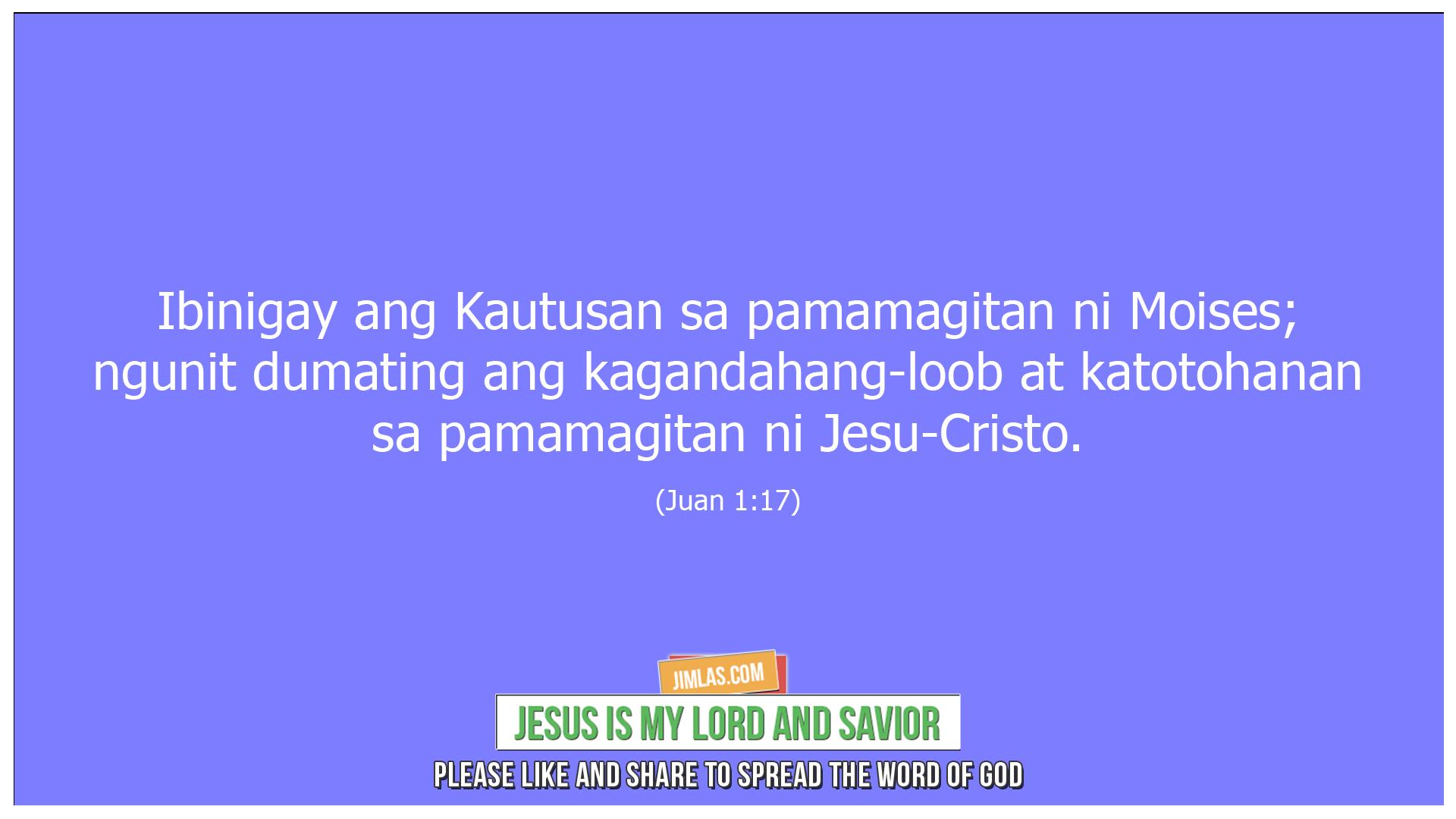 Juan 1 17, Juan 1:17