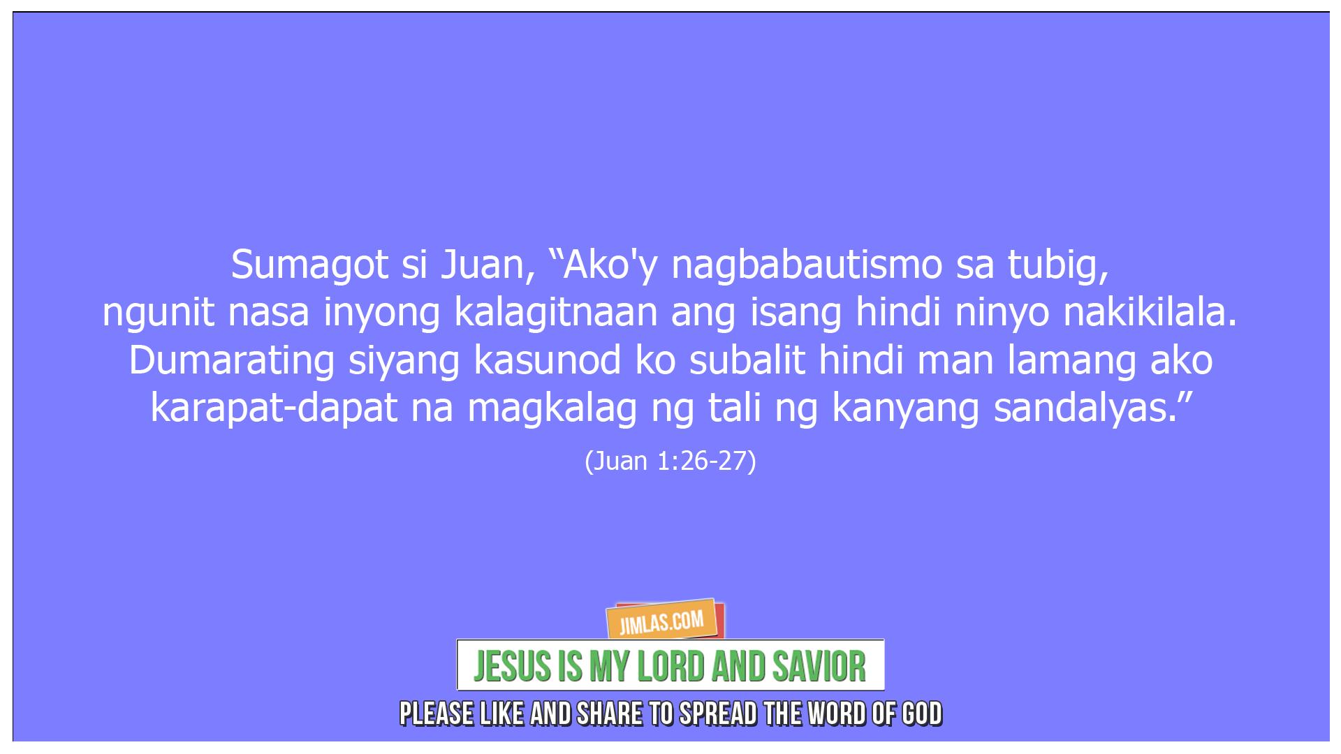 Juan 1 26-27, Juan 1:26-27