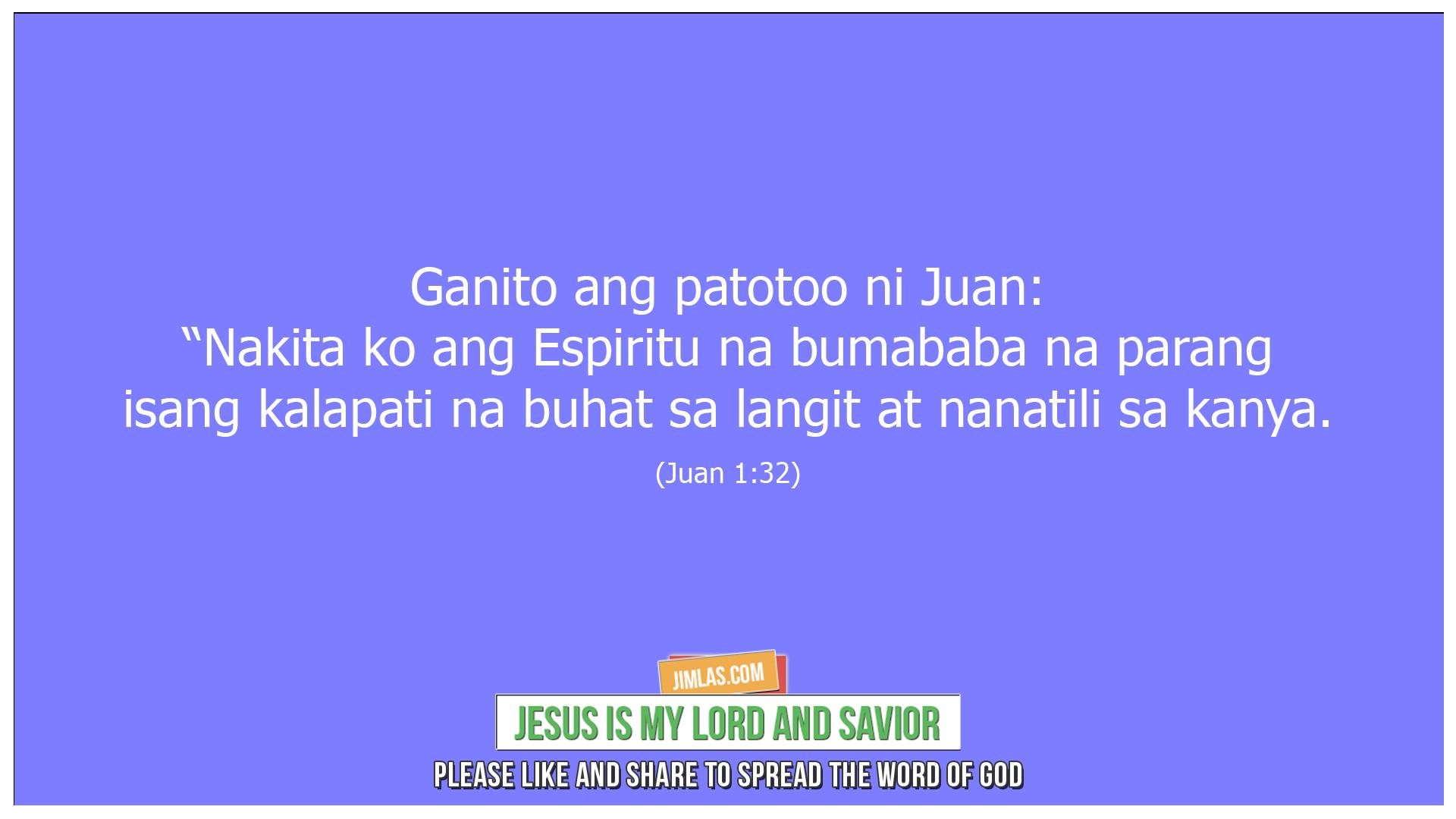 Juan 1 32, Juan 1:32
