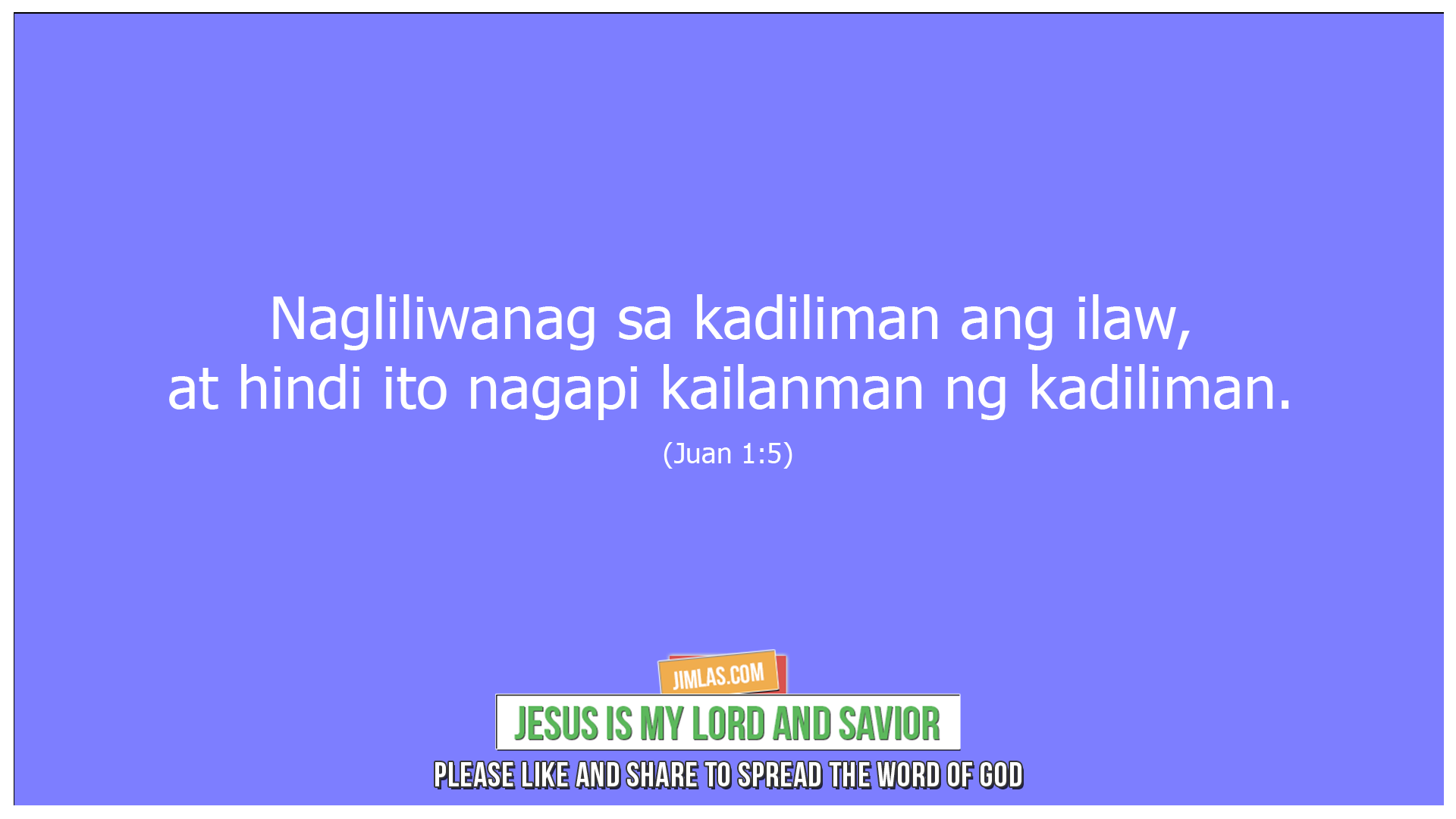 Juan 1 5, Juan 1:5