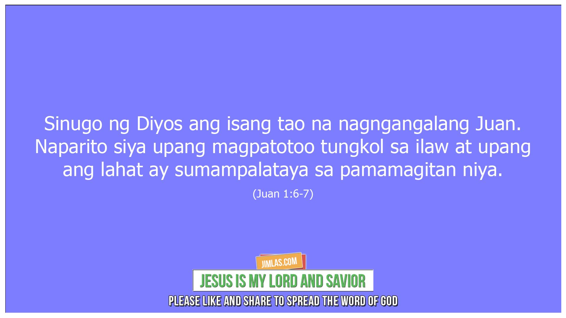 Juan 1 6-7, Juan 1:6-7