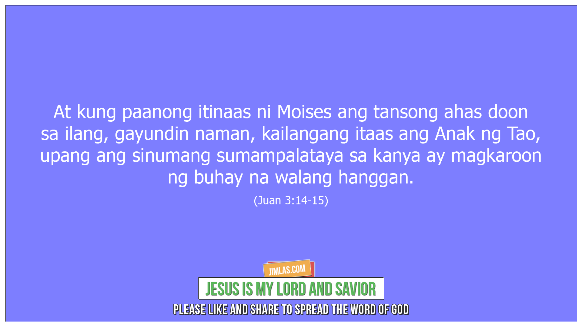 Juan 3 14-15, Juan 3:14-15