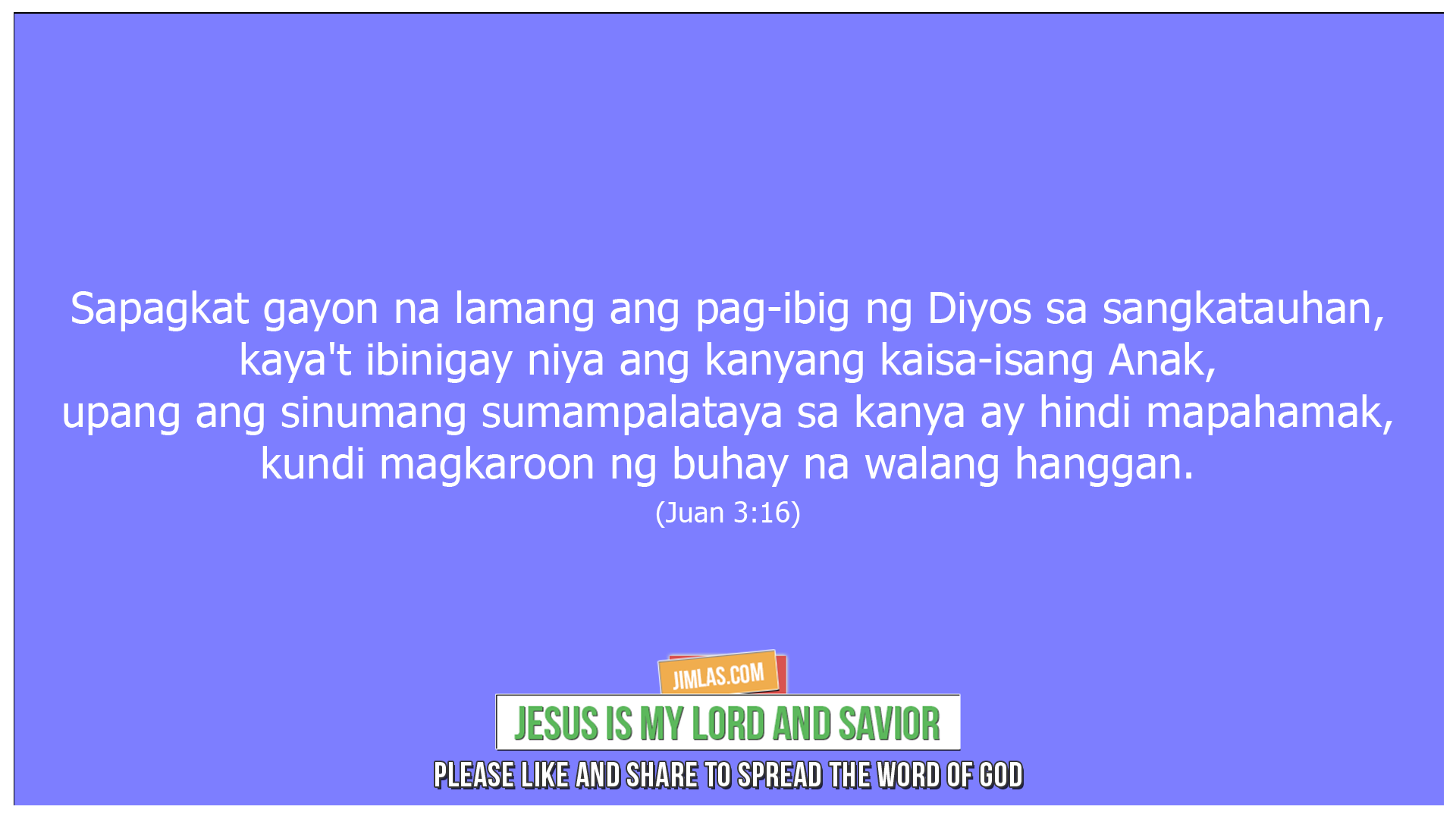 Juan 3 16, Juan 3:16