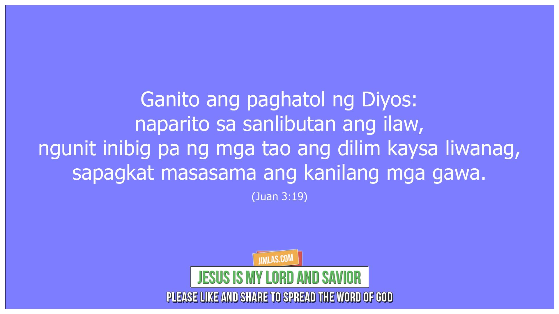 Juan 3 19, Juan 3:19