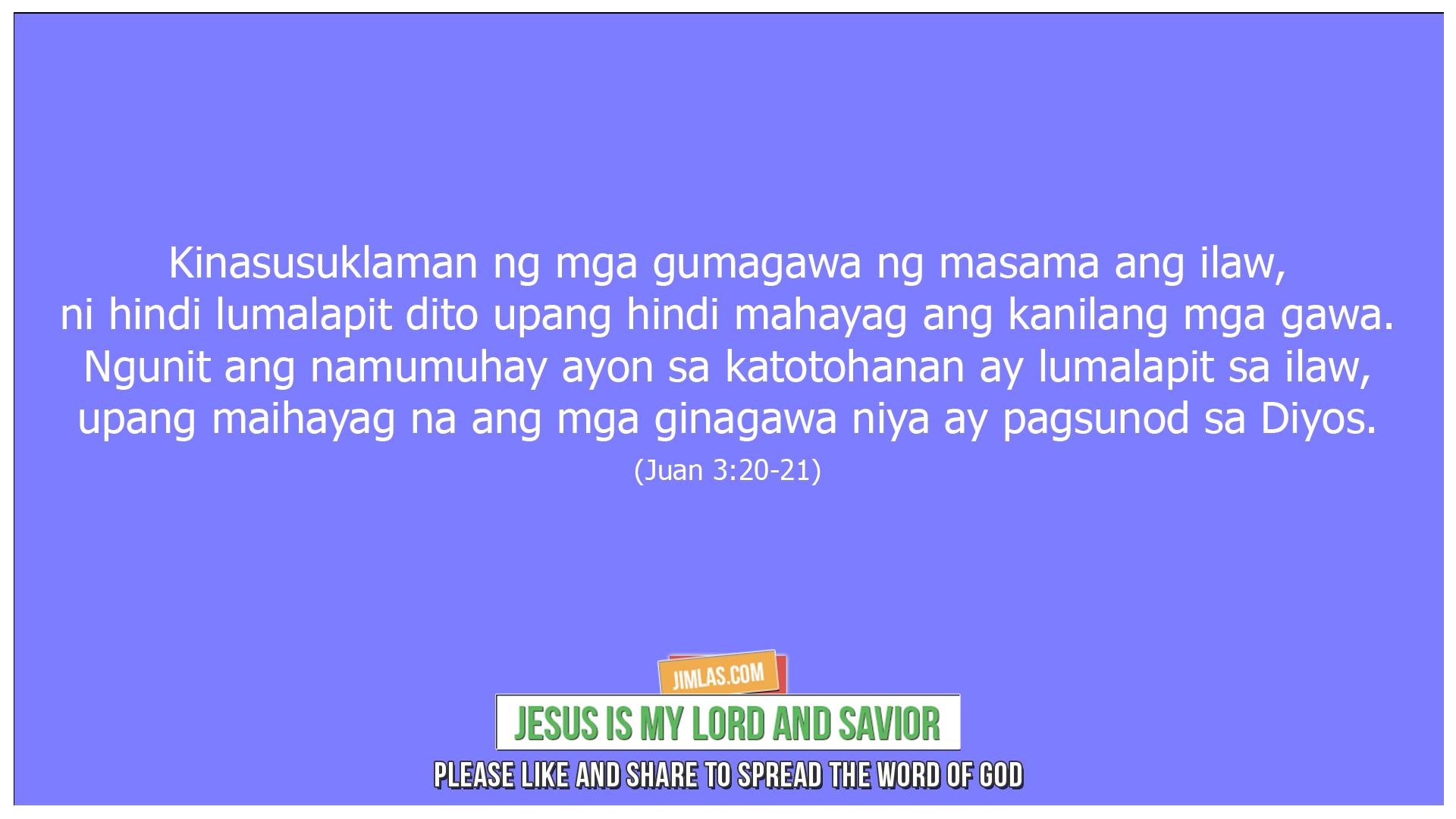 Juan 3 20-21, Juan 3:20-21