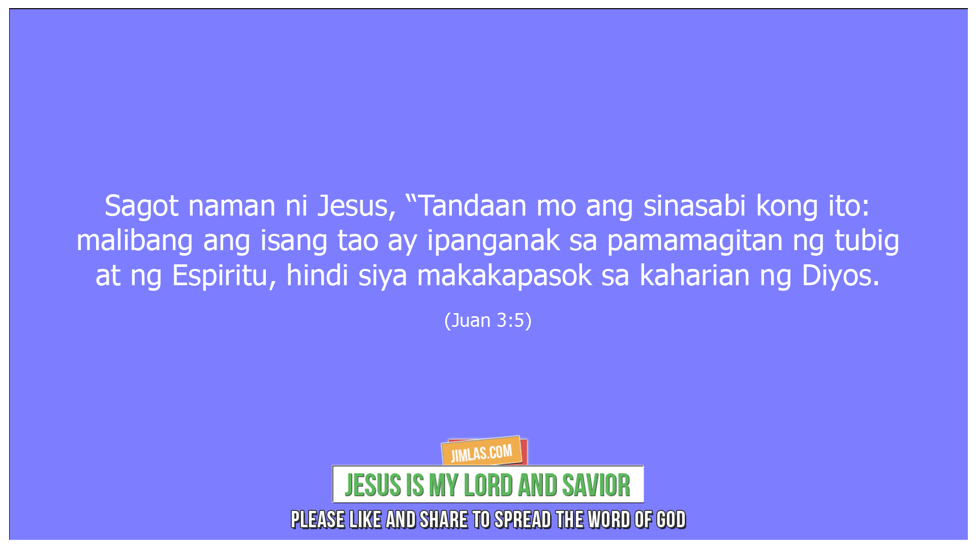 Juan 3 5, Juan 3:5