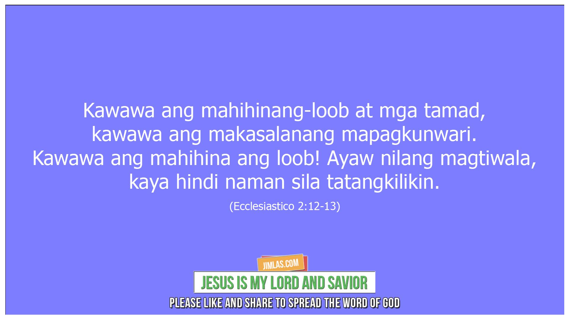 ecclesiastico 2 12-13, Ecclesiastico 2:12-13