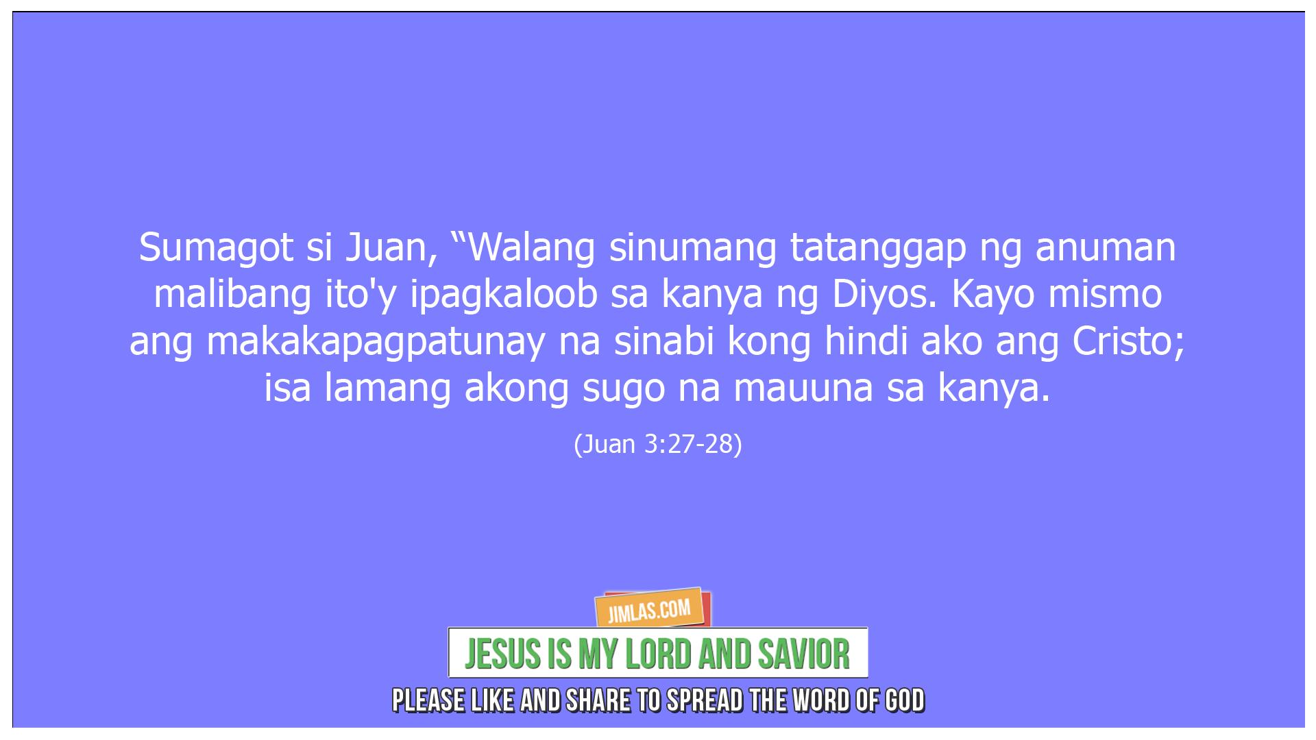 Juan 3-27-28, Juan 3:27-28