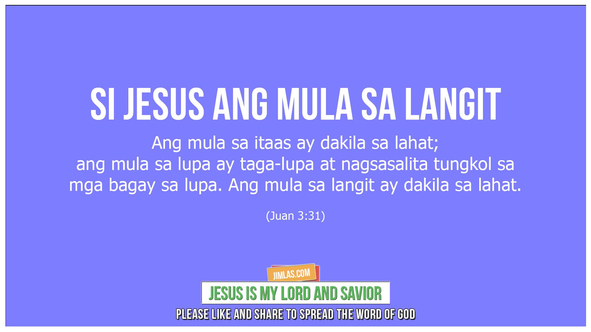 Juan 3-31, Juan 3:31