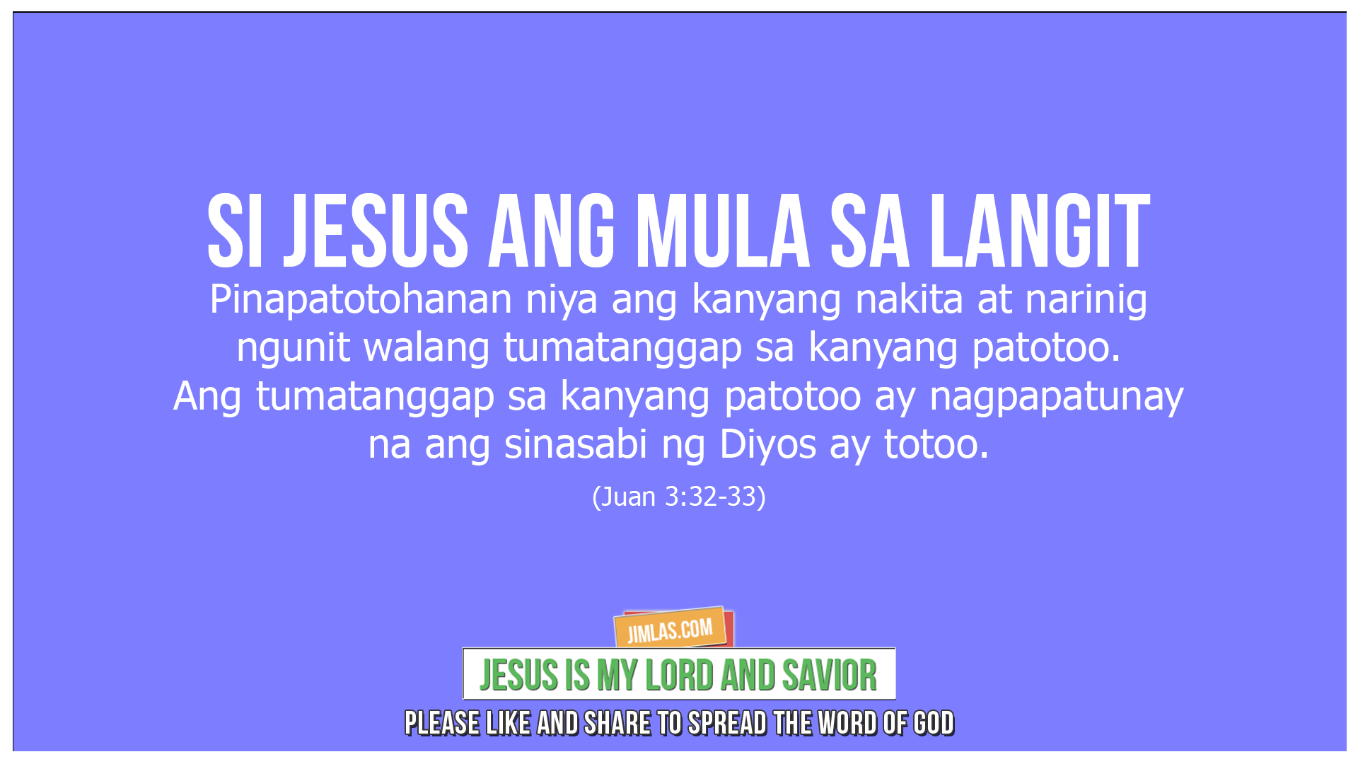 Juan 3 32 33, Juan 3:32-33
