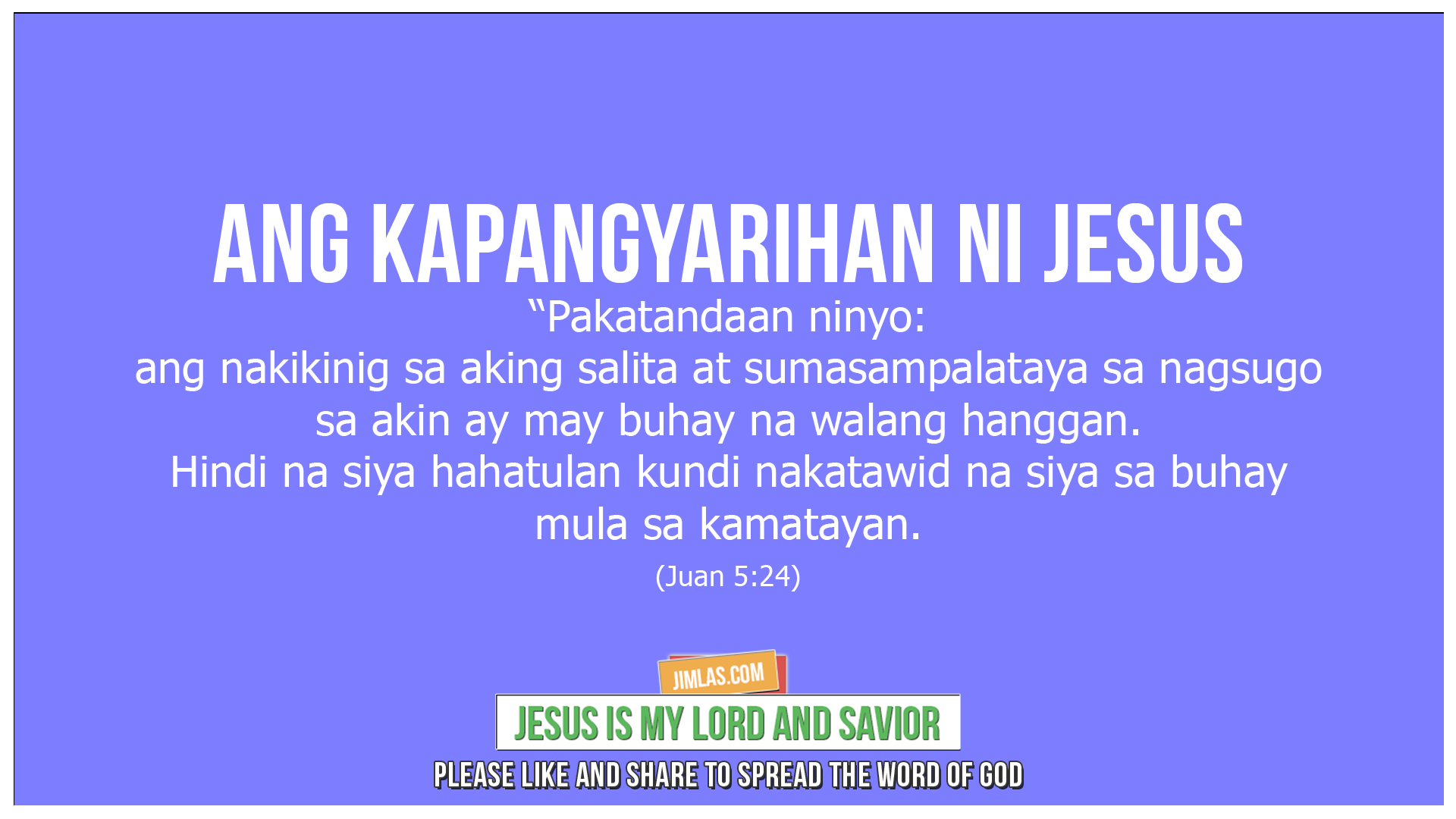 Juan 5 24, Juan 5:24